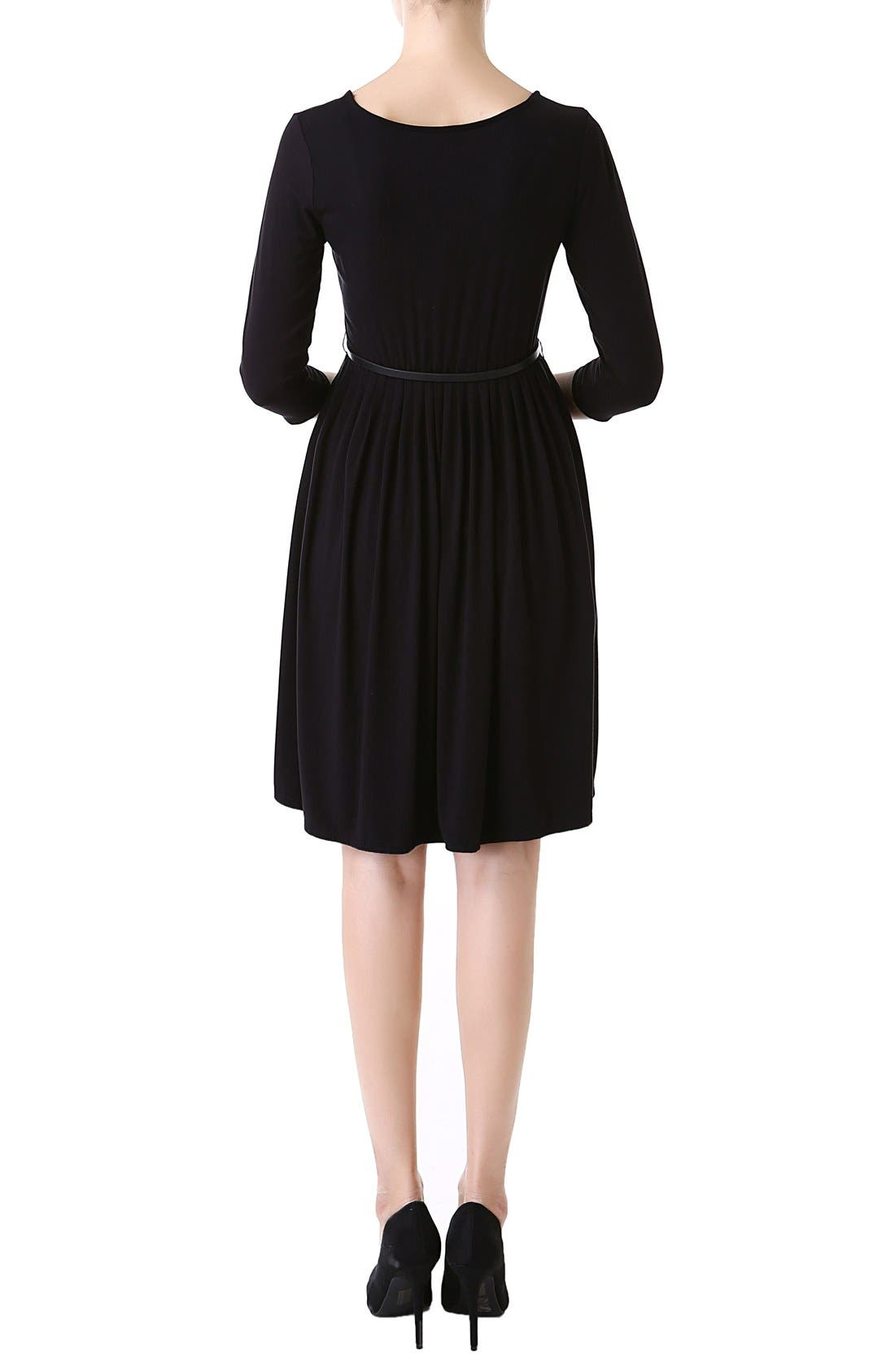 'Shannon' Maternity Dress,                             Alternate thumbnail 2, color,                             BLACK