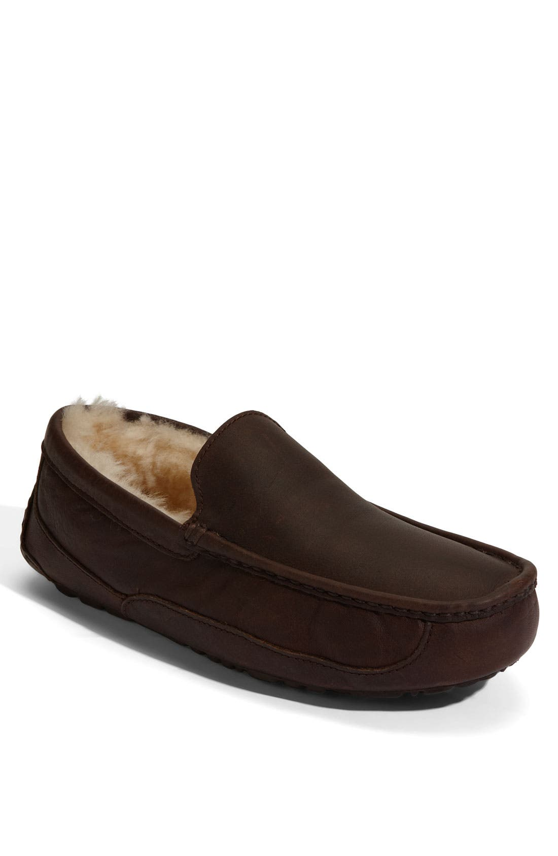 Ugg Ascot Leather Slipper, 8- Brown