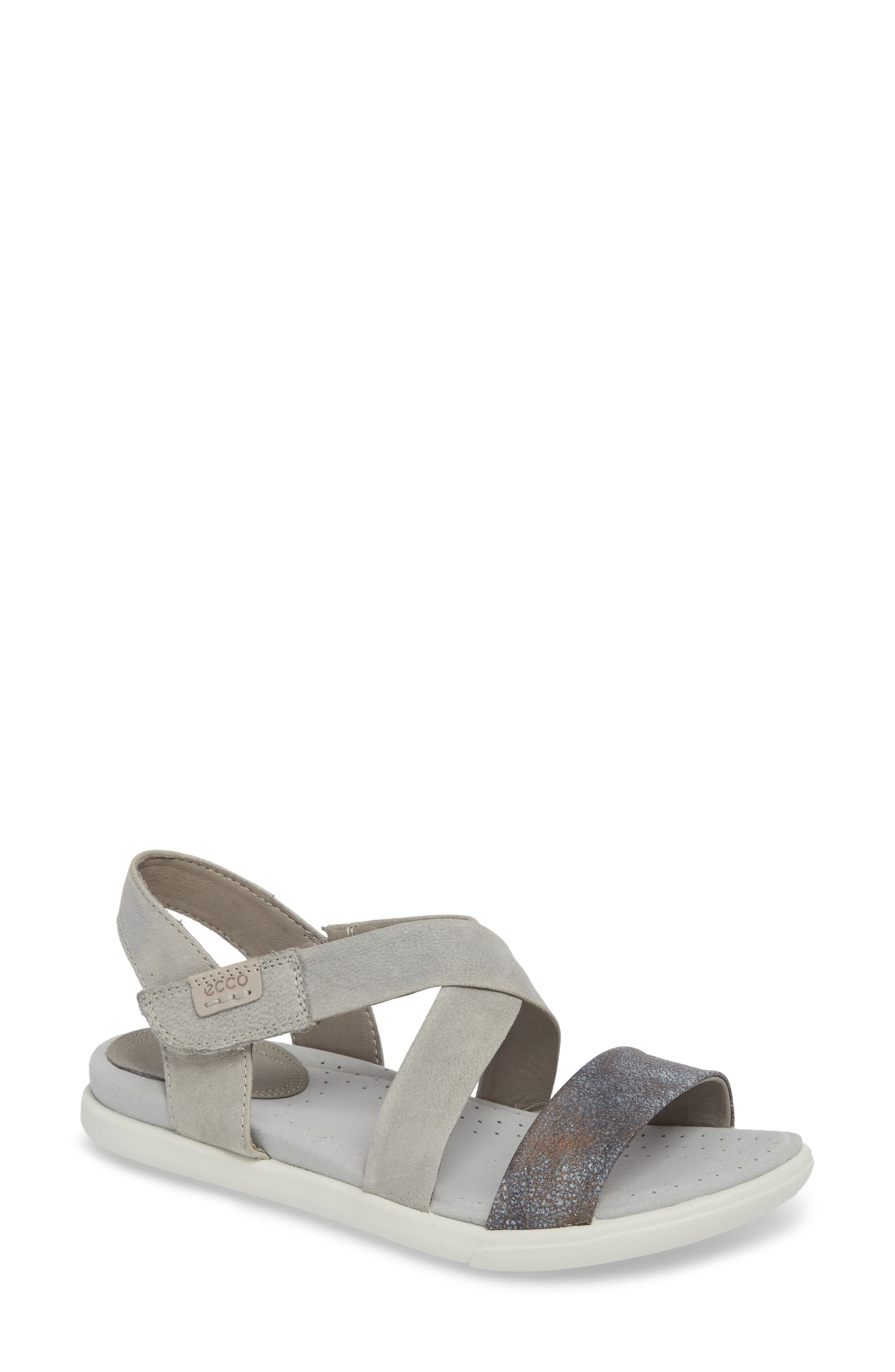 Damara Cross-Strap Sandal,                             Main thumbnail 2, color,