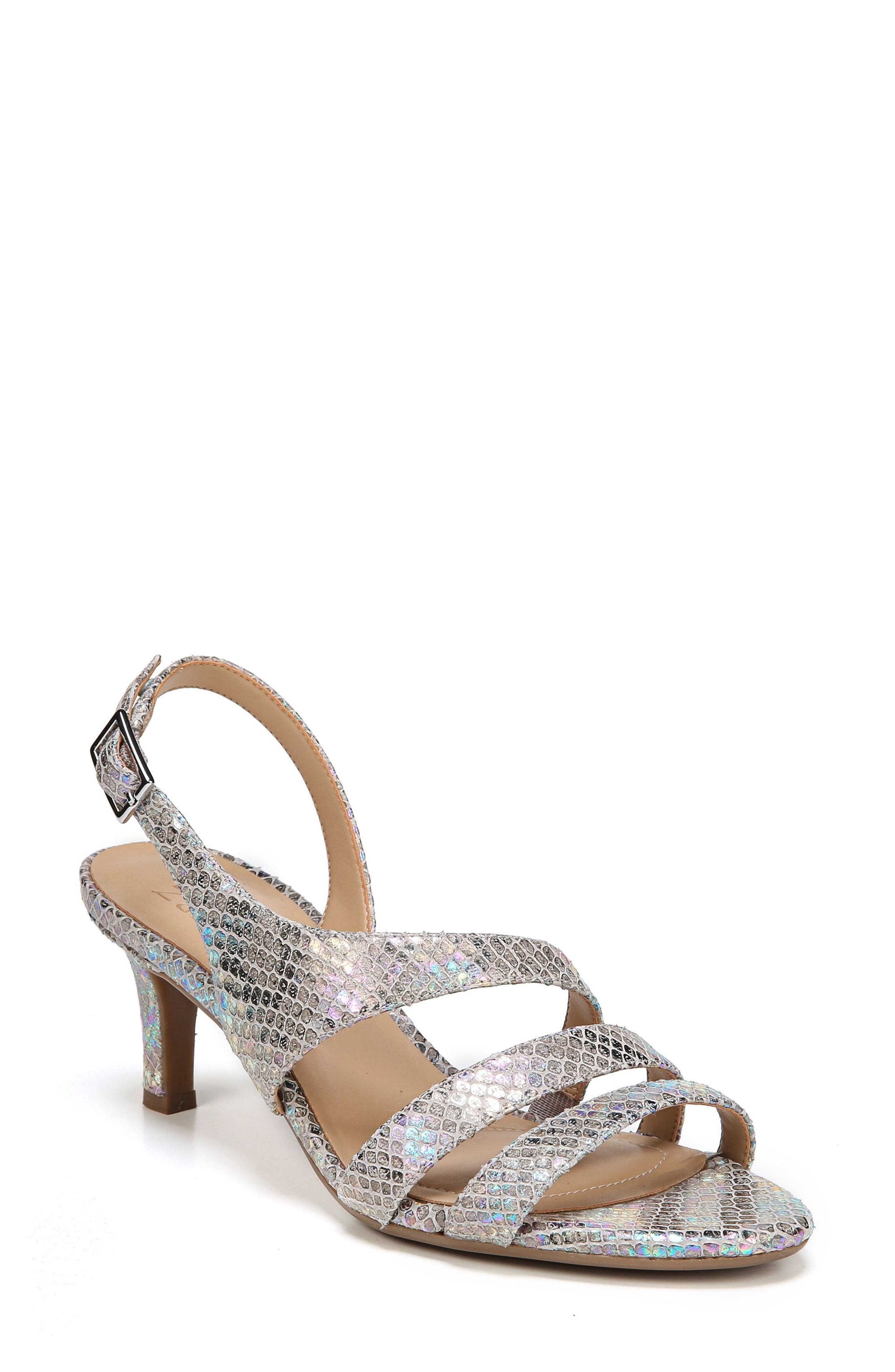 NATURALIZER Taimi Sandal, Main, color, SILVER SNAKE LEATHER PRINT
