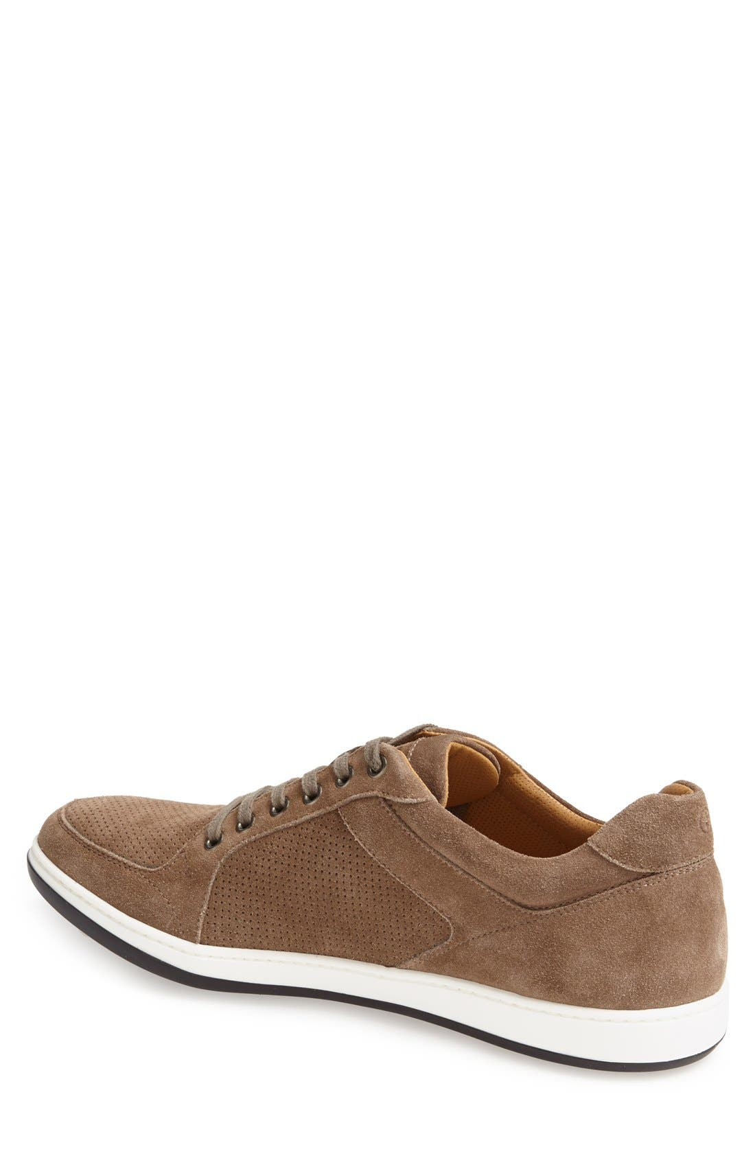 Perforated Suede Sneaker,                             Alternate thumbnail 4, color,                             260