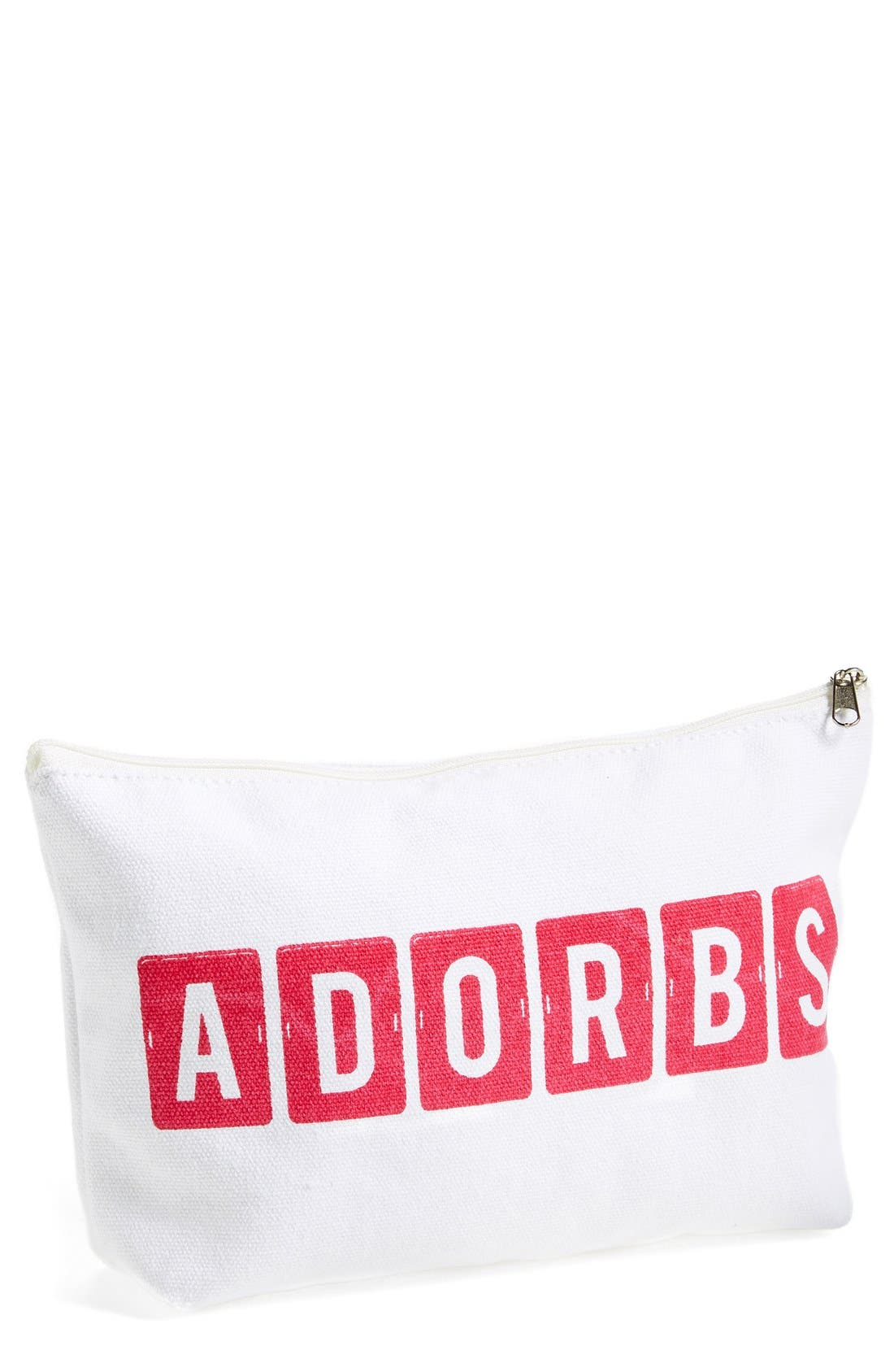 'Adorbs' Zip Top Accessory Bag,                         Main,                         color, 100