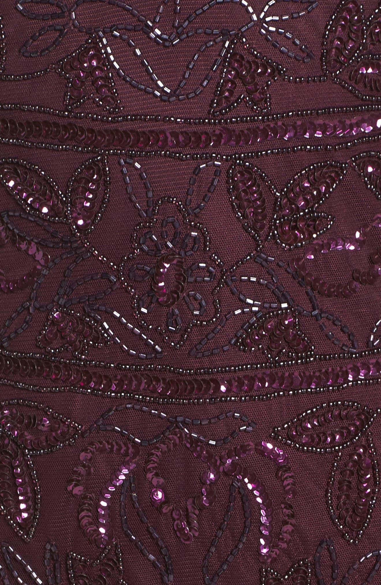 Embellished Deep V-Neck Sheath Dress,                             Alternate thumbnail 5, color,                             504