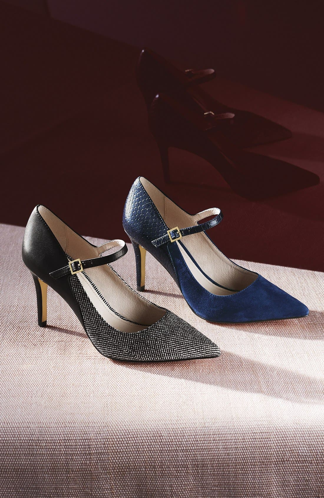 'Ione' Mary Jane Pump,                             Alternate thumbnail 5, color,                             020