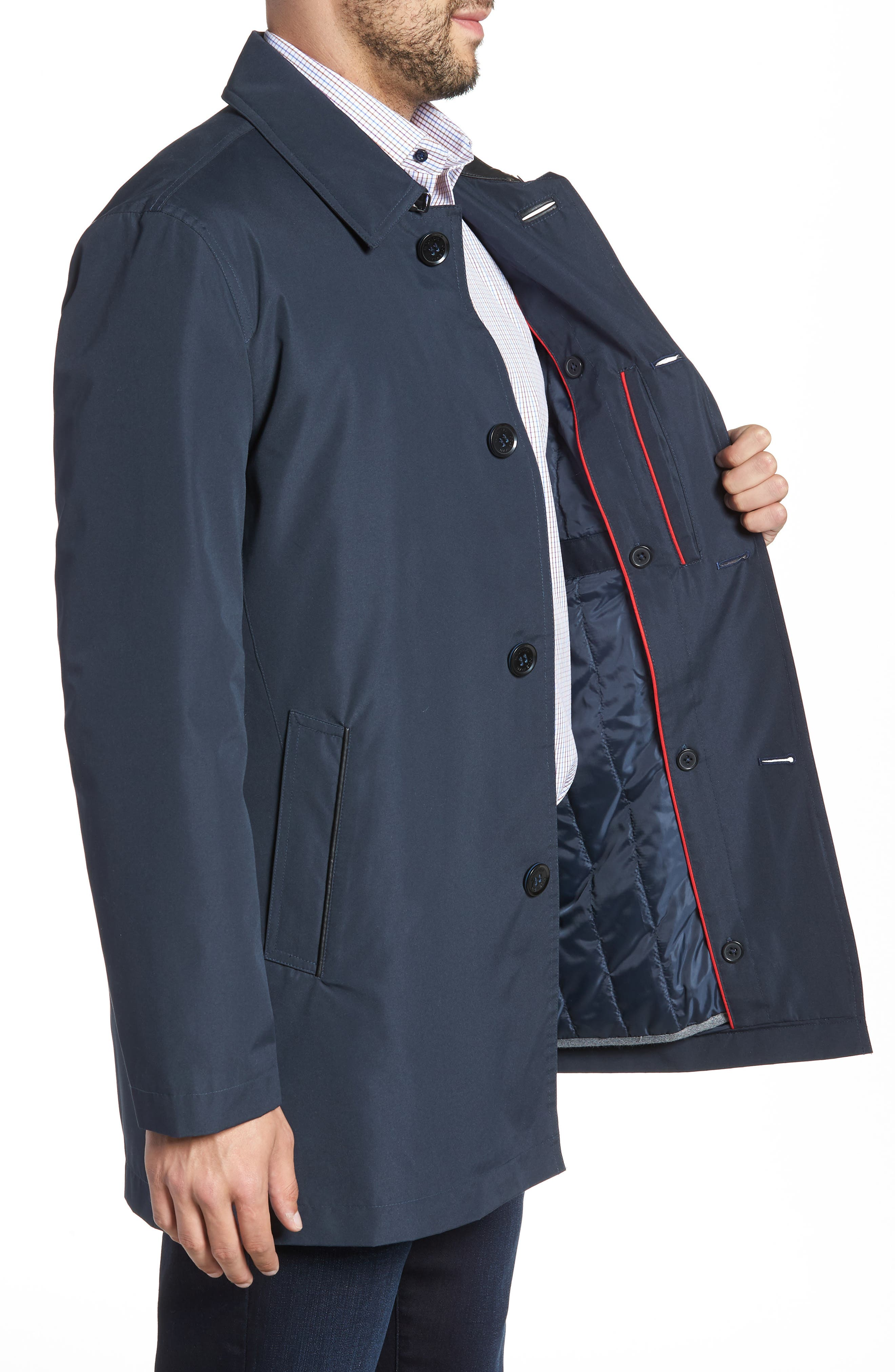 Cole Haan Water Resistant Car Coat,                             Alternate thumbnail 3, color,                             410