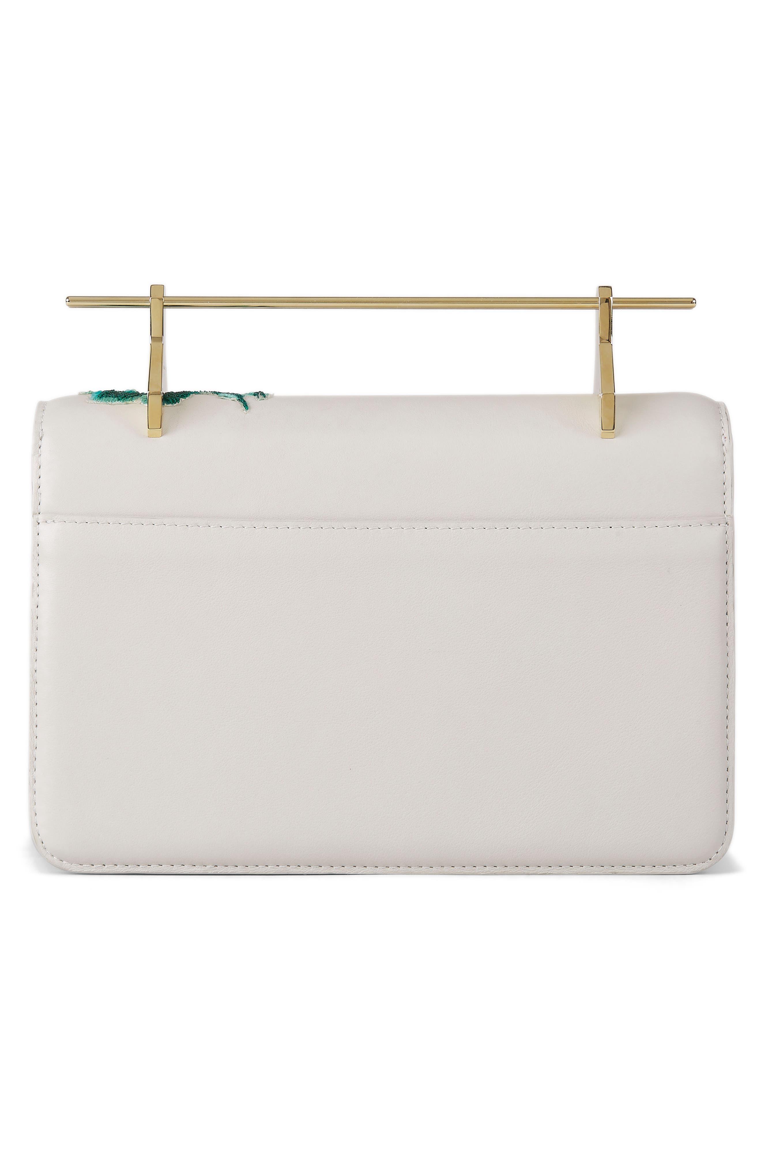 La Fleur du Mal Embellished Calfskin Leather Shoulder Bag,                             Alternate thumbnail 2, color,