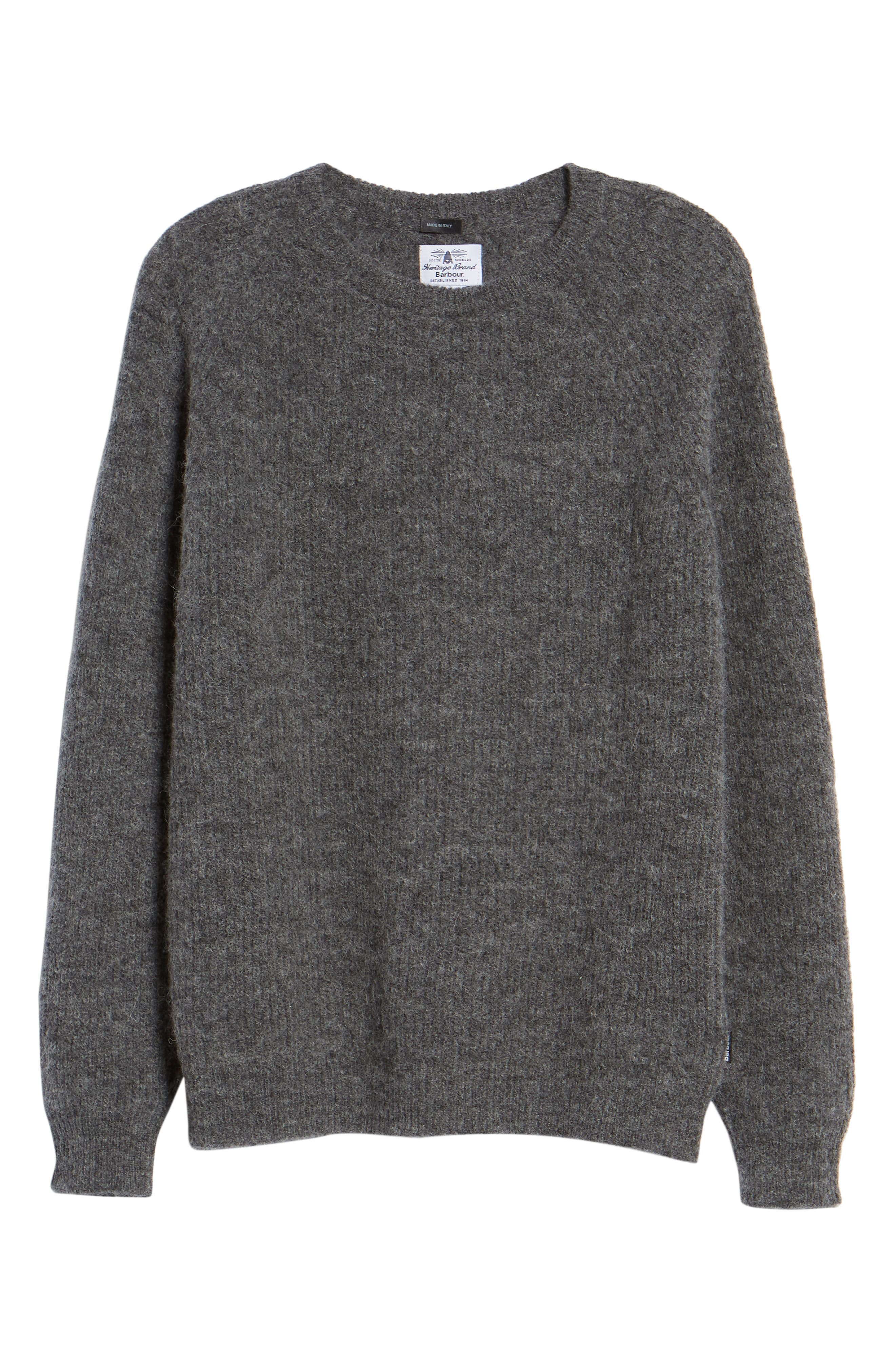 Olivia Crewneck Sweater,                             Alternate thumbnail 6, color,                             DARK GREY MARL