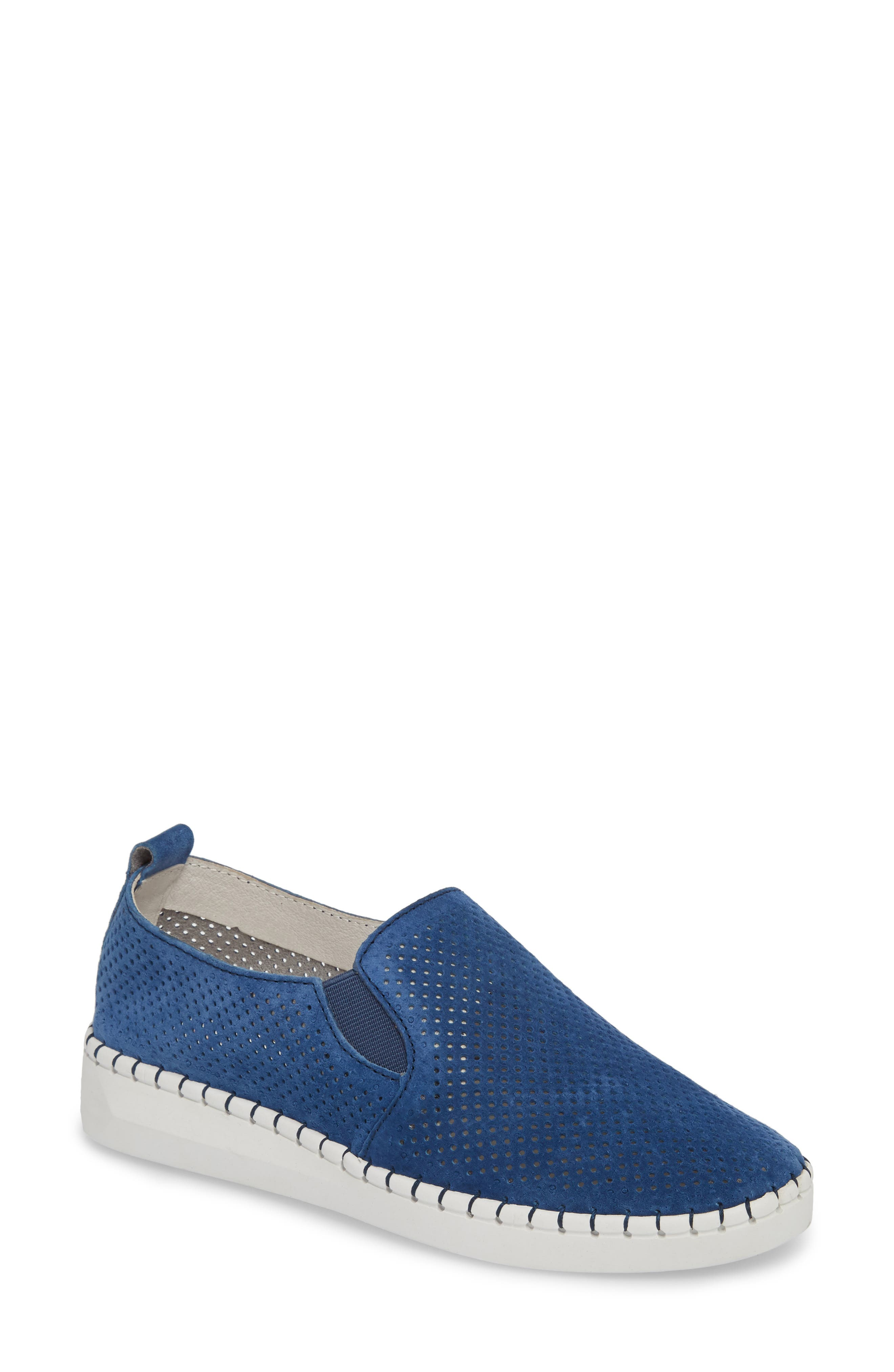 Slip-On Sneaker,                         Main,                         color, BLUE LEATHER