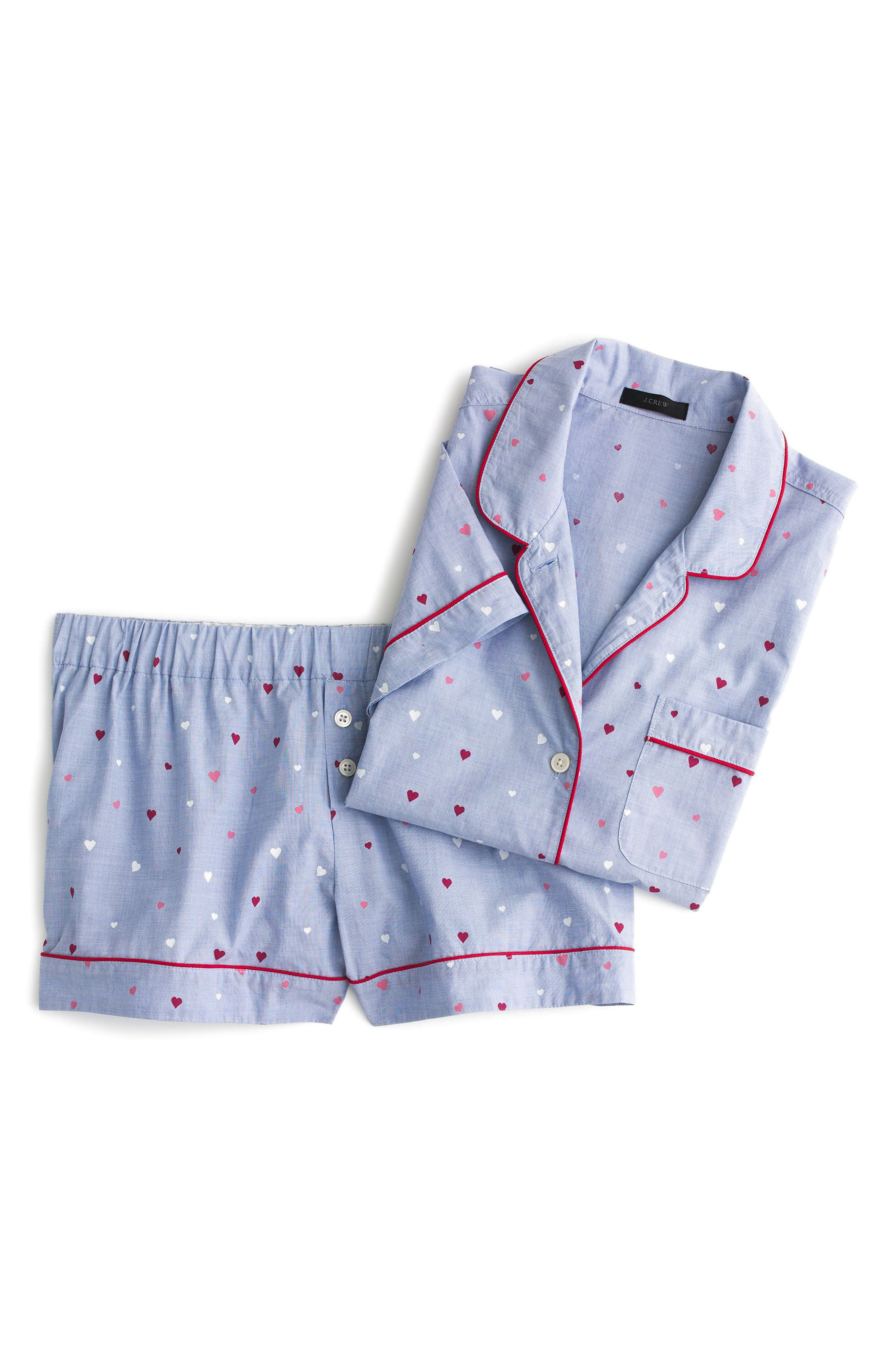 Short Cotton Pajamas,                             Alternate thumbnail 3, color,                             404