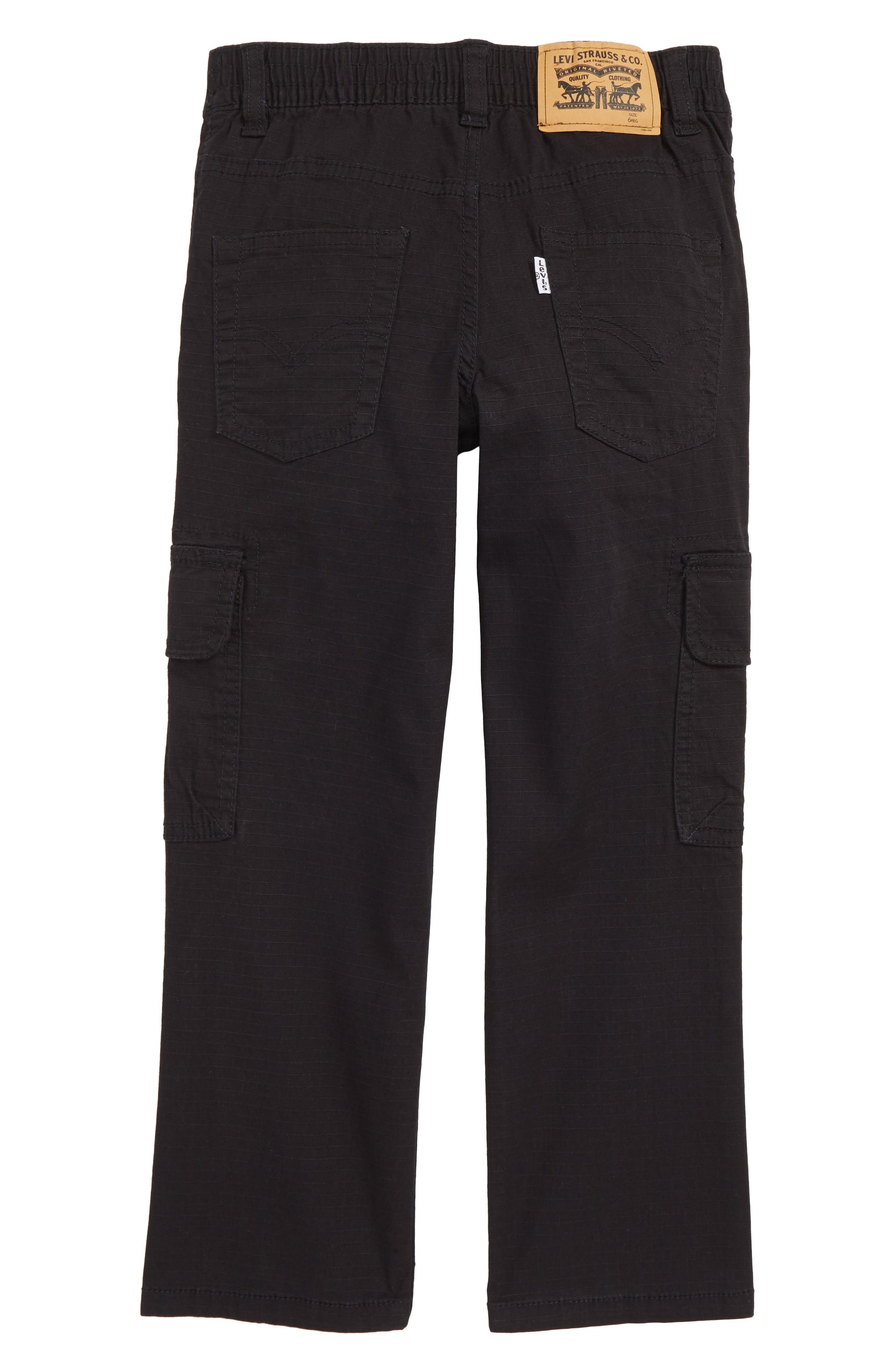 Tapered Stretch Cargo Pants,                             Alternate thumbnail 2, color,                             ONYX
