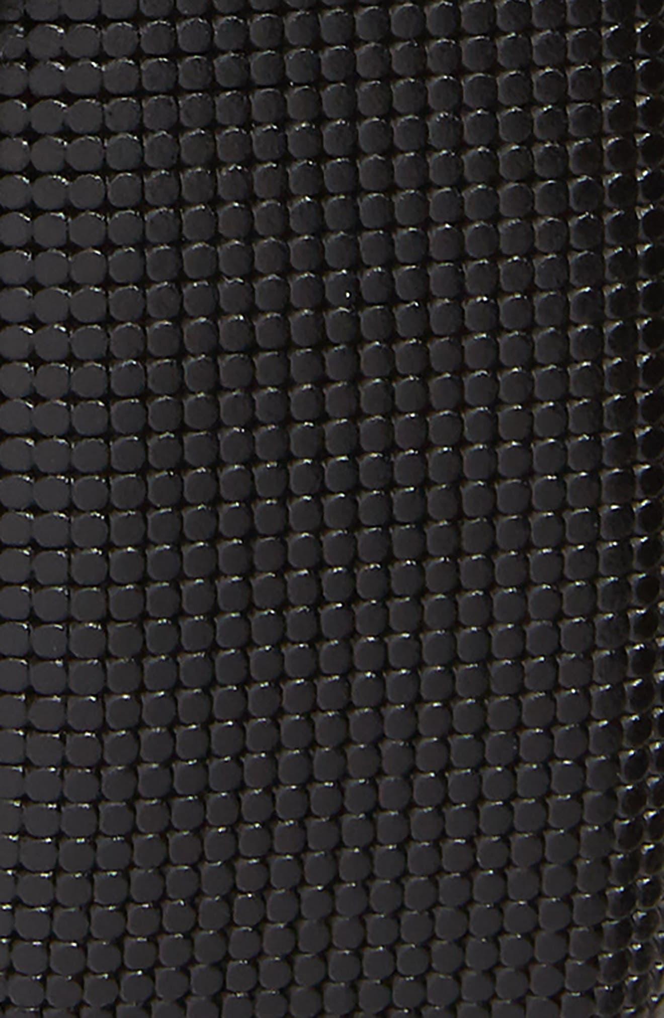 Mini Embossed Leather Belt,                             Alternate thumbnail 2, color,                             BLACK