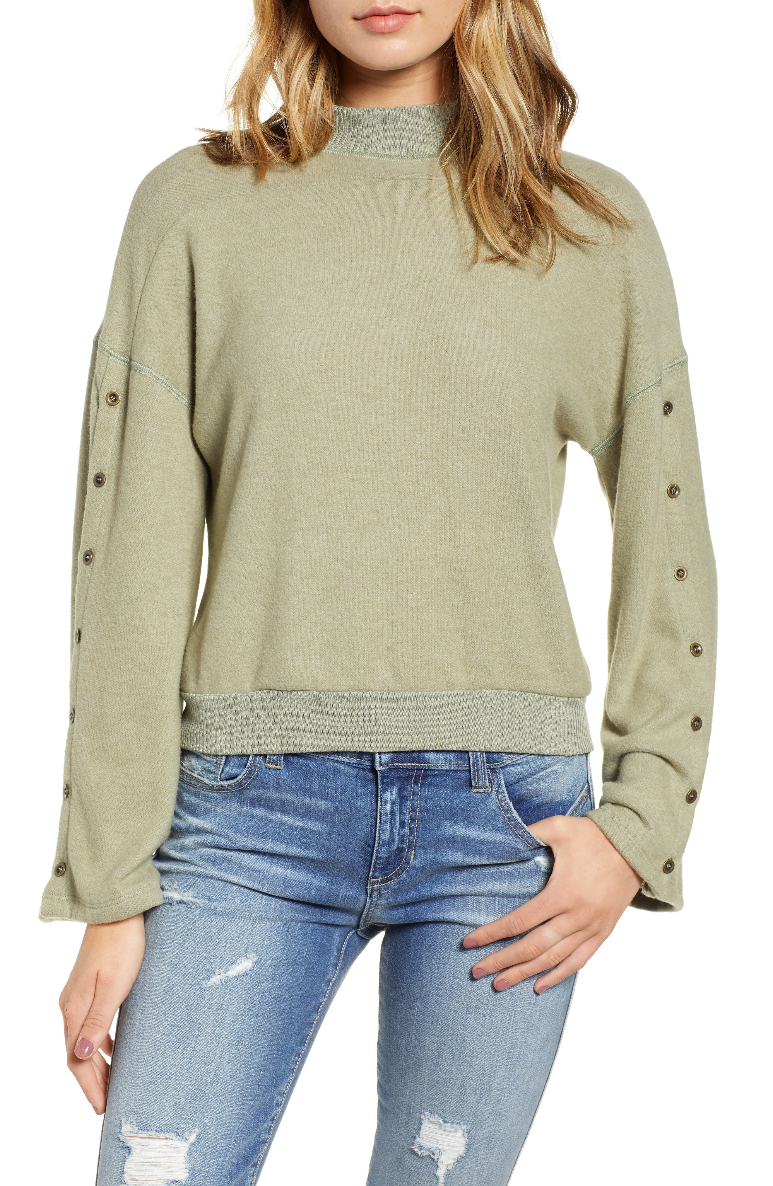 Starstruck Mock Neck Pullover,                         Main,                         color, CAPERS