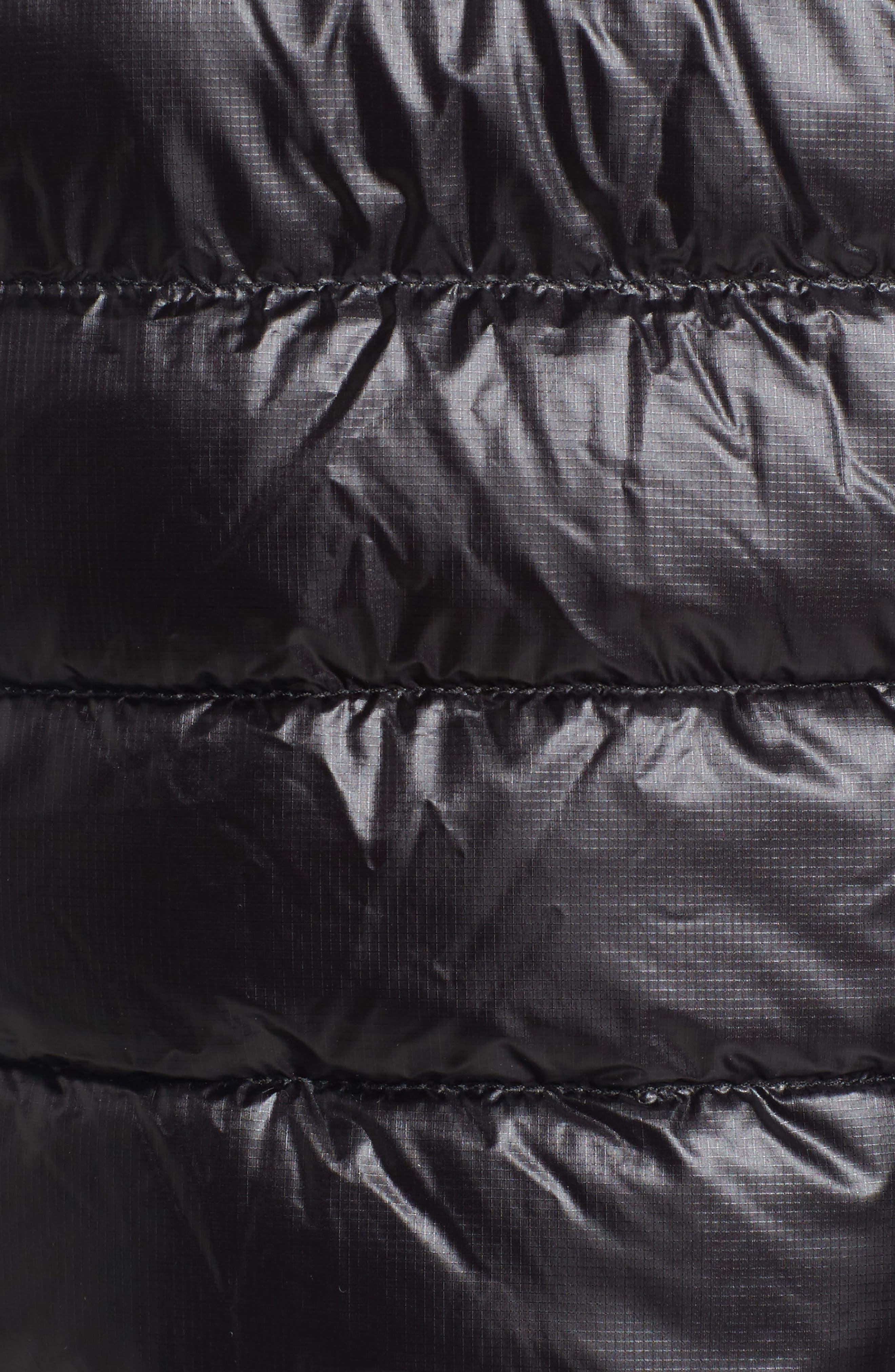 'Hybridge Lite' Slim Fit Packable Down Vest,                             Alternate thumbnail 7, color,                             BLACK/ GRAPHITE