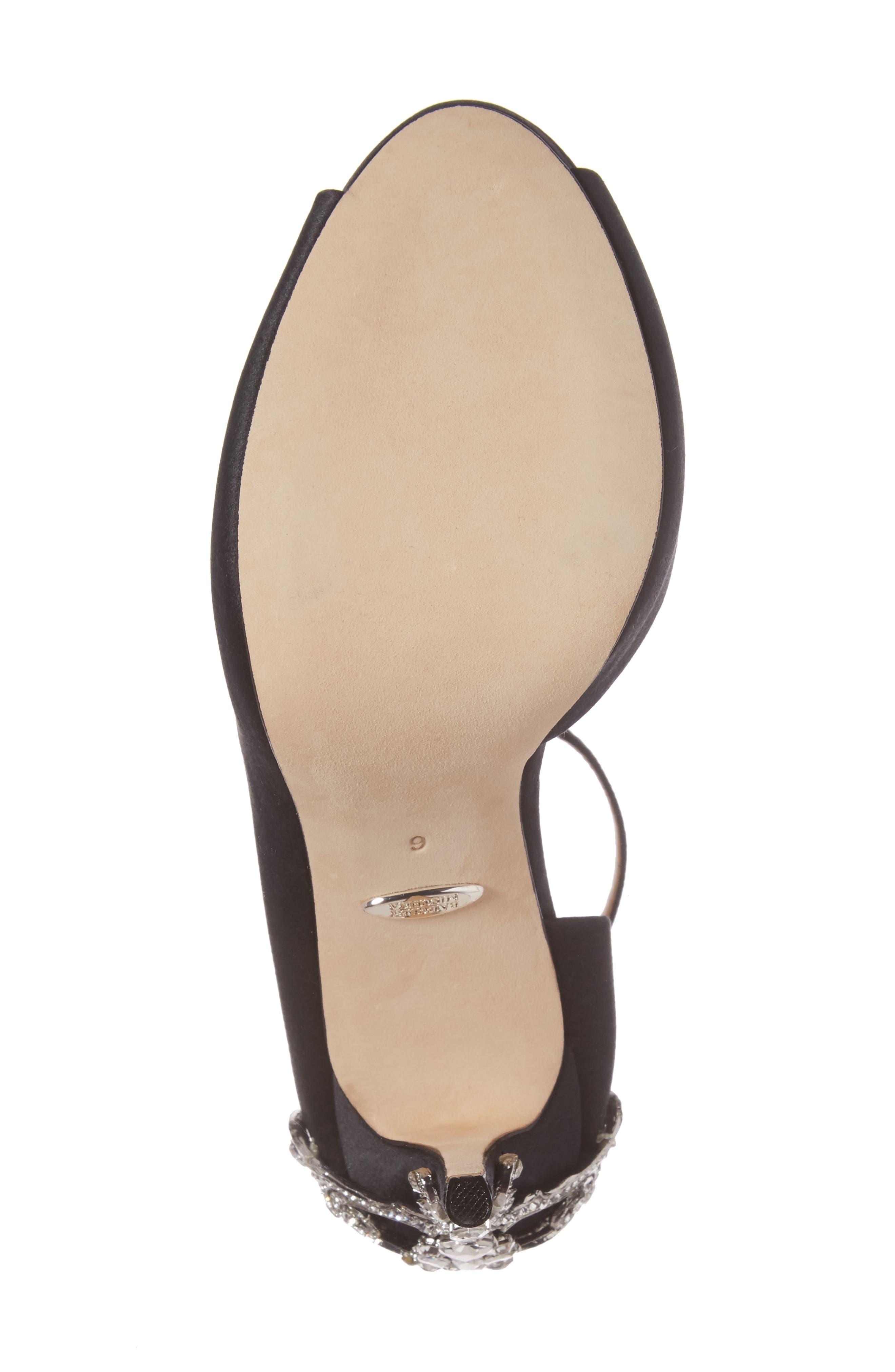 Badgley Micshka Karson Embellished Peep Toe Pump,                             Alternate thumbnail 6, color,                             015
