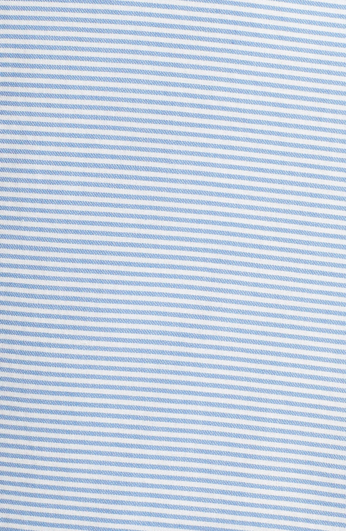Geordy Regular Fit Pinstripe Shorts,                             Alternate thumbnail 5, color,                             400