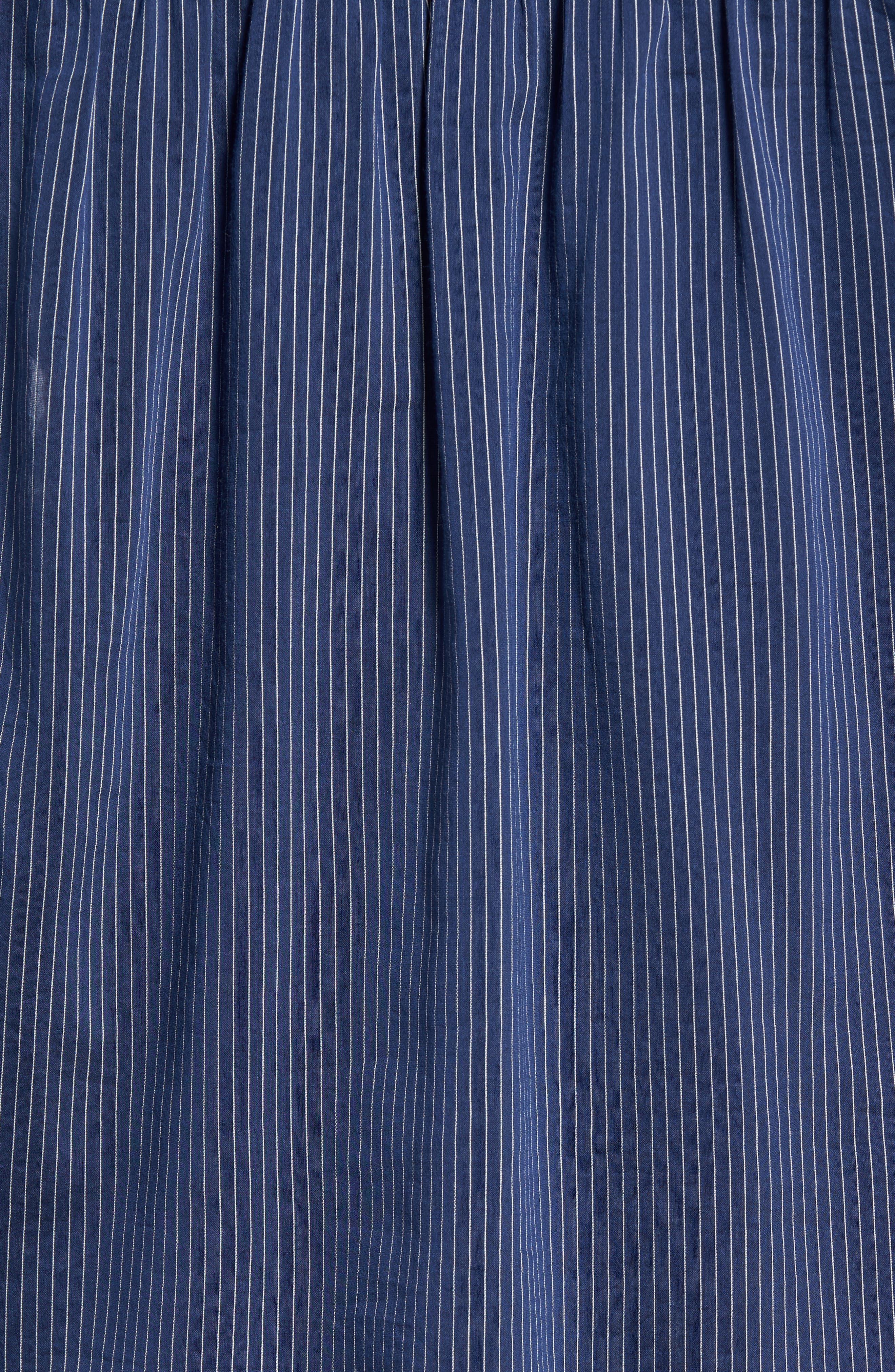 Stripe Cotton & Silk Top,                             Alternate thumbnail 5, color,                             410