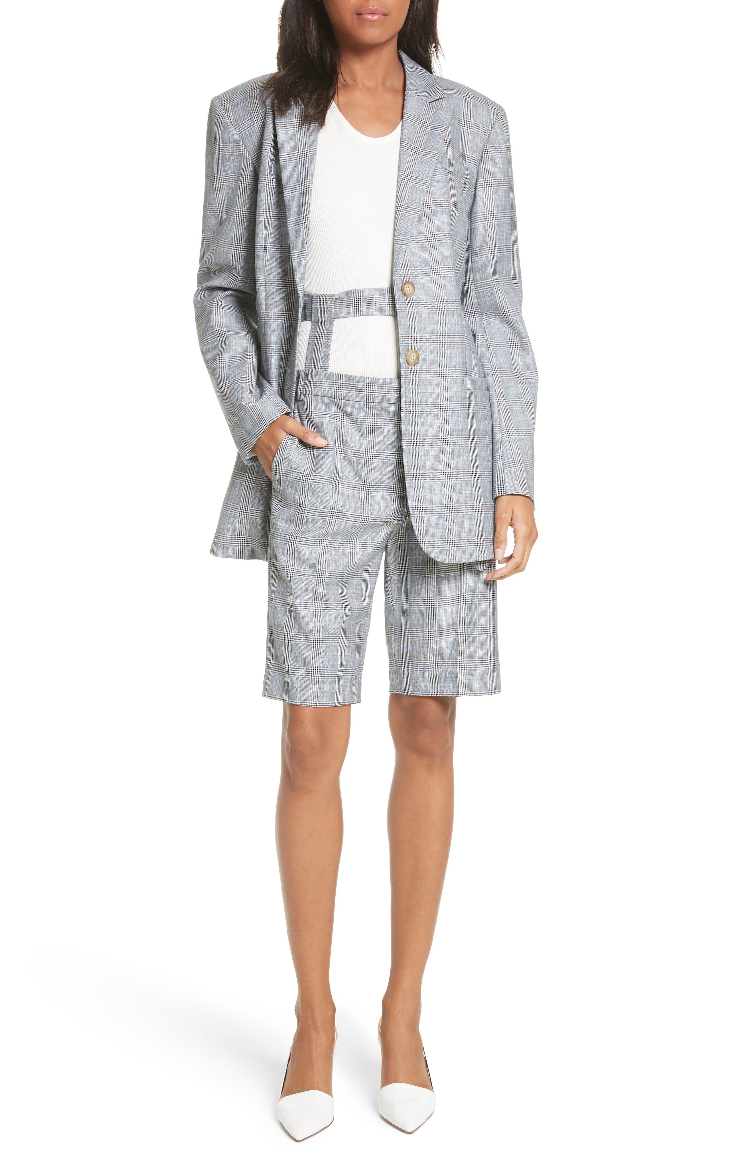 Removable Corset Plaid Shorts,                             Alternate thumbnail 7, color,                             020