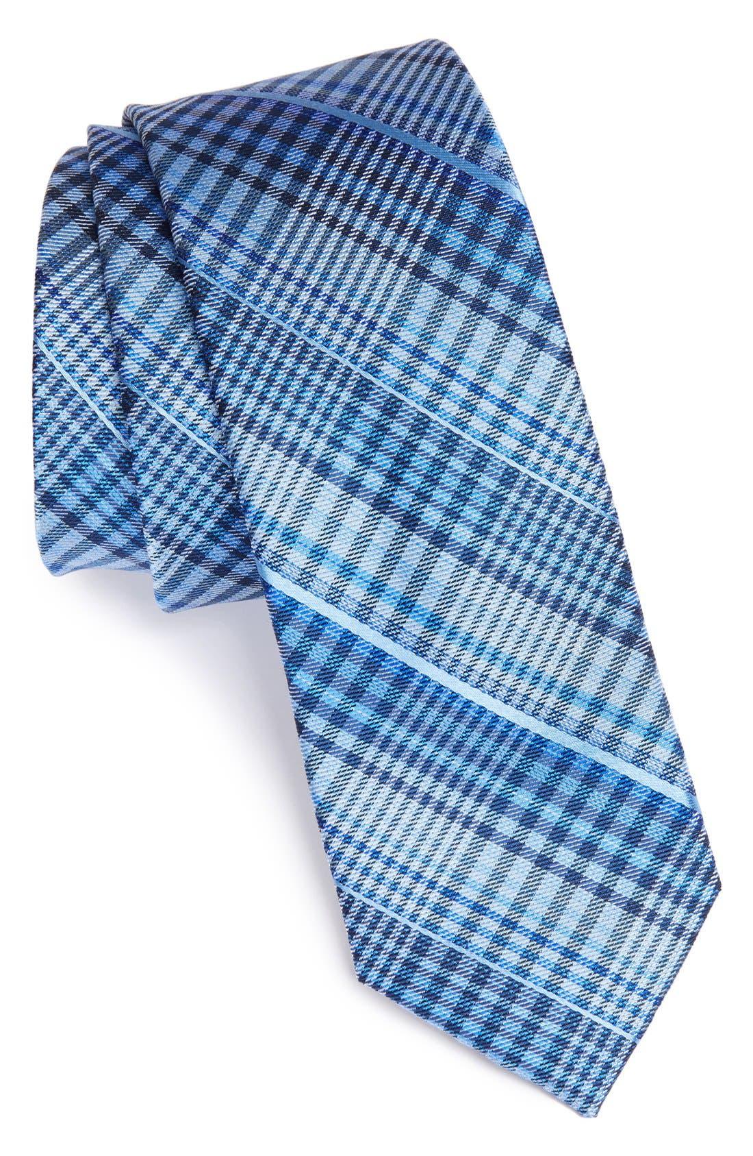 'Davis' Woven Silk Tie,                         Main,                         color, 410