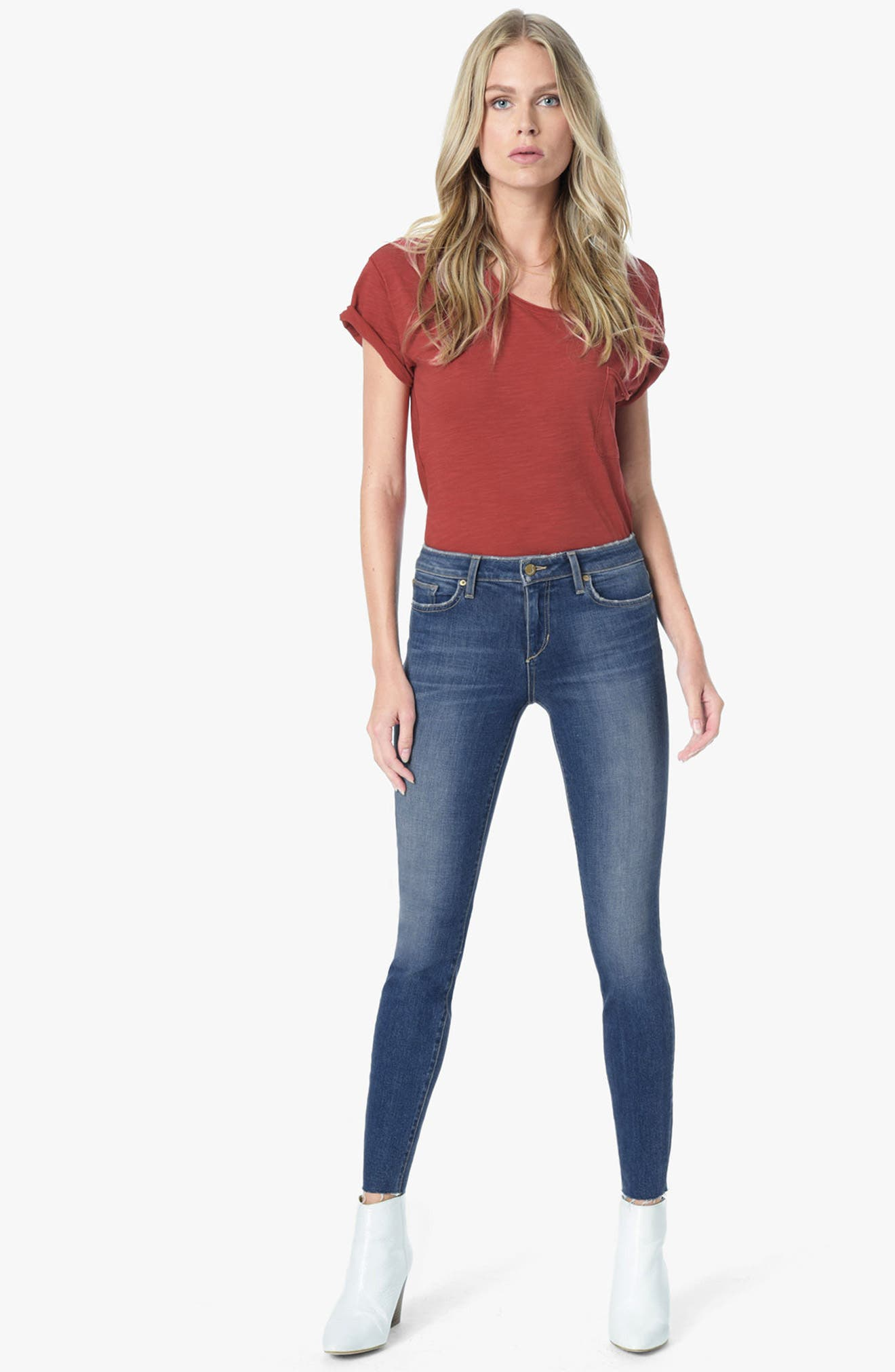 Icon Ankle Skinny Jeans,                             Alternate thumbnail 4, color,                             411