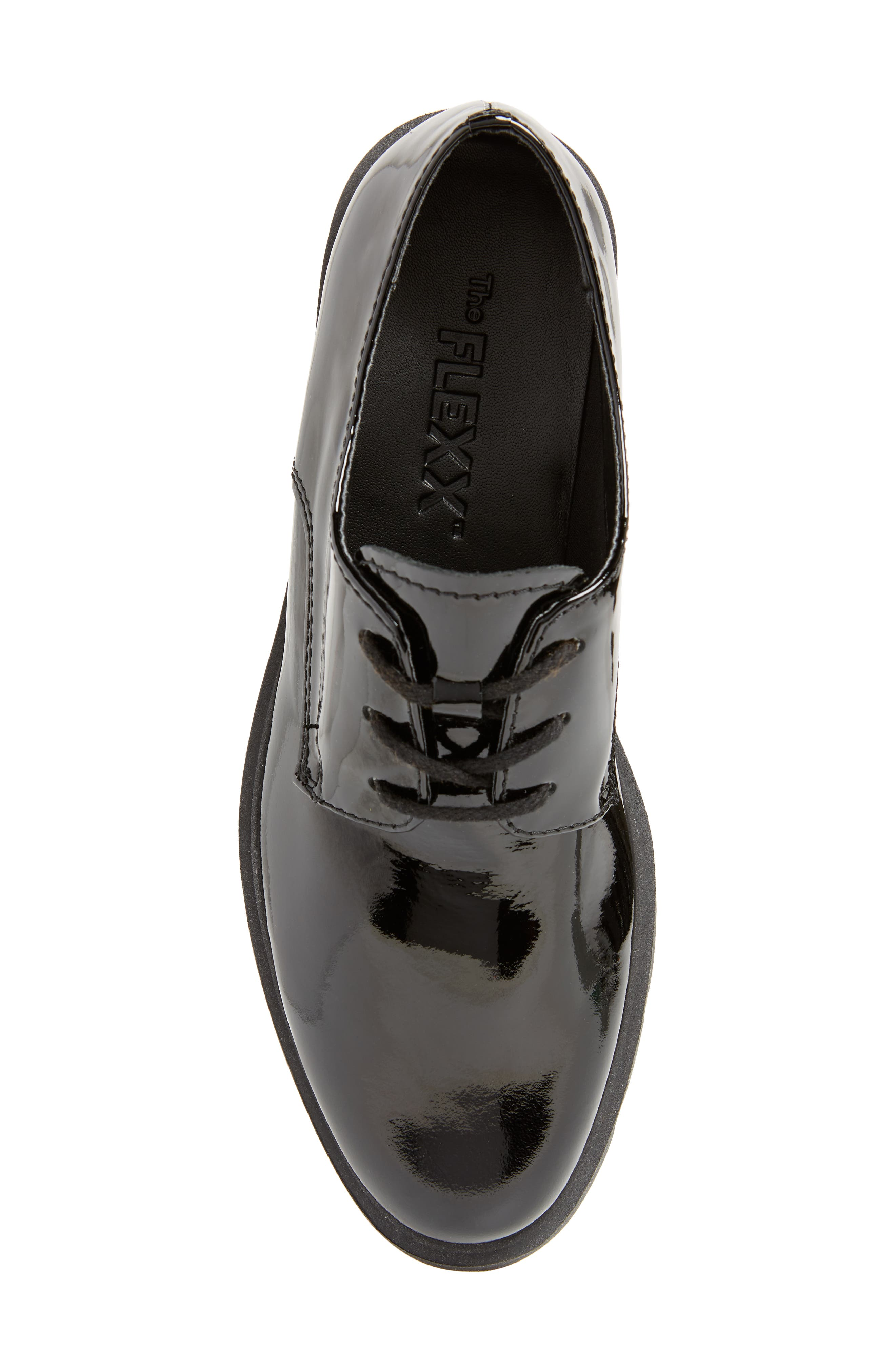 People Mover Derby,                             Alternate thumbnail 5, color,                             BLACK PATENT LEATHER