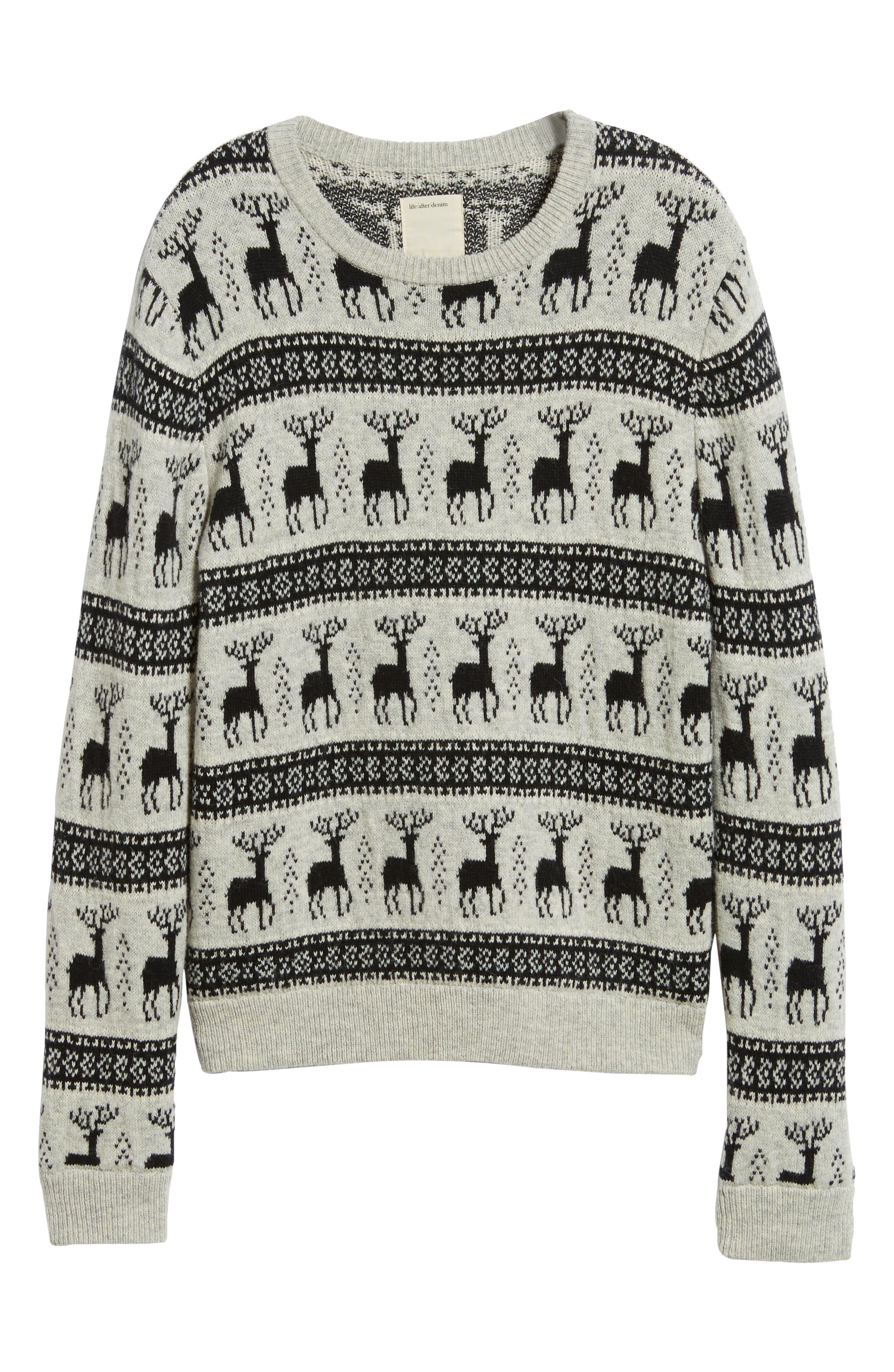 Cedar Slim Fit Crewneck Sweater,                             Alternate thumbnail 6, color,                             LIGHT HEATHER GREY