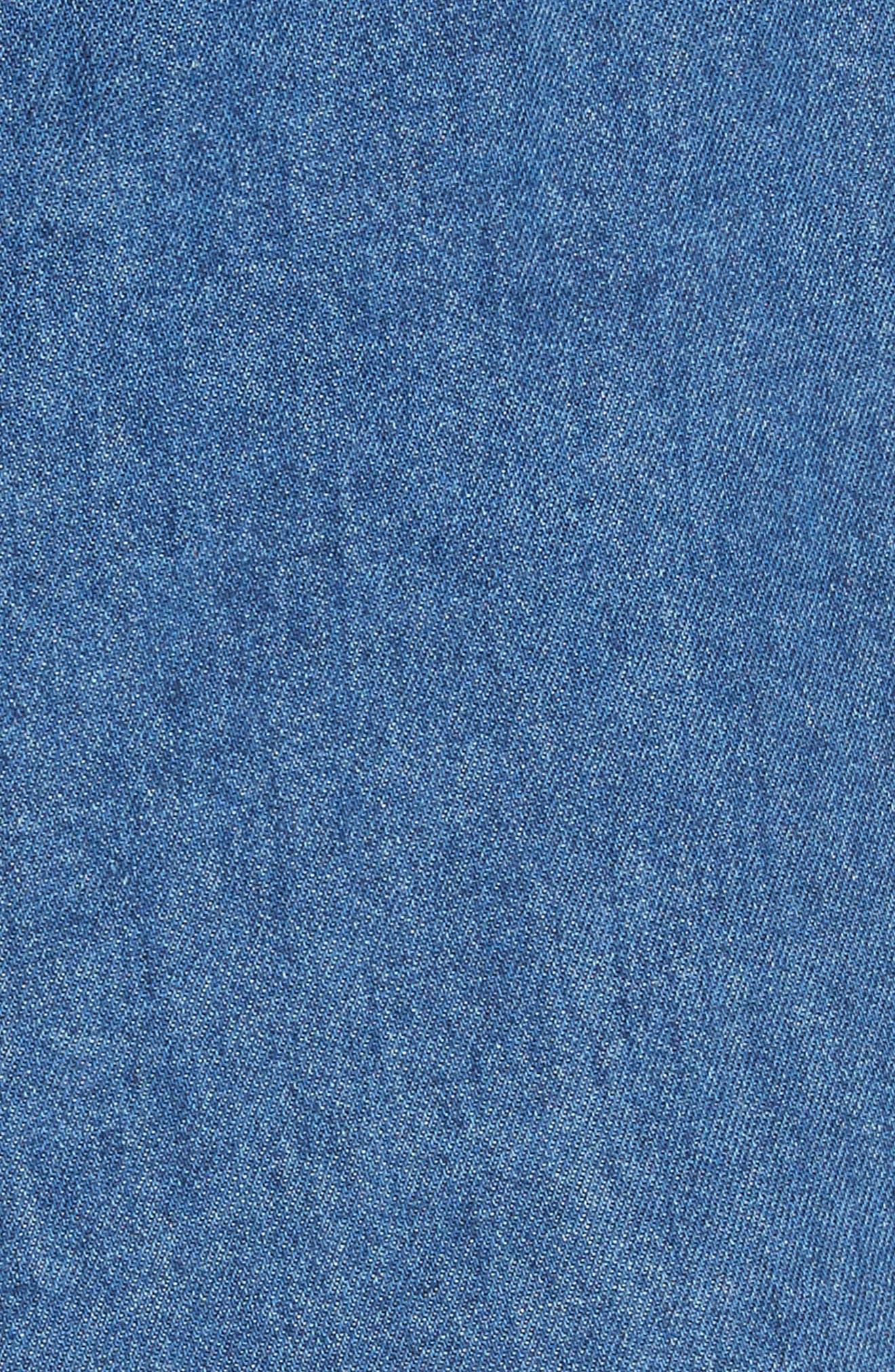 Amy Button Front Denim Shorts,                             Alternate thumbnail 5, color,                             ABELLA SHORT