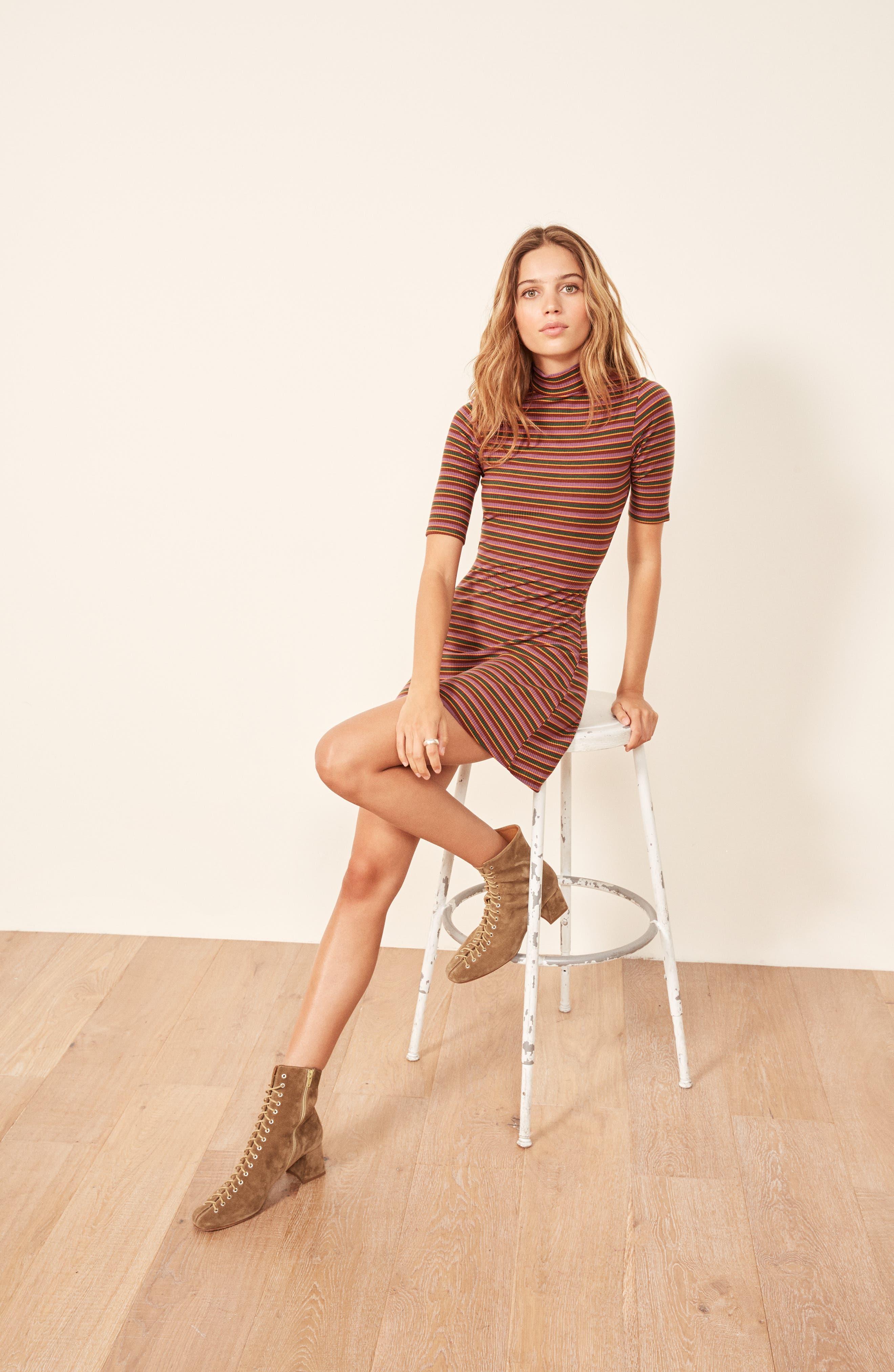 Mod Sweater Dress,                             Alternate thumbnail 2, color,                             GABRIEL STRIPE