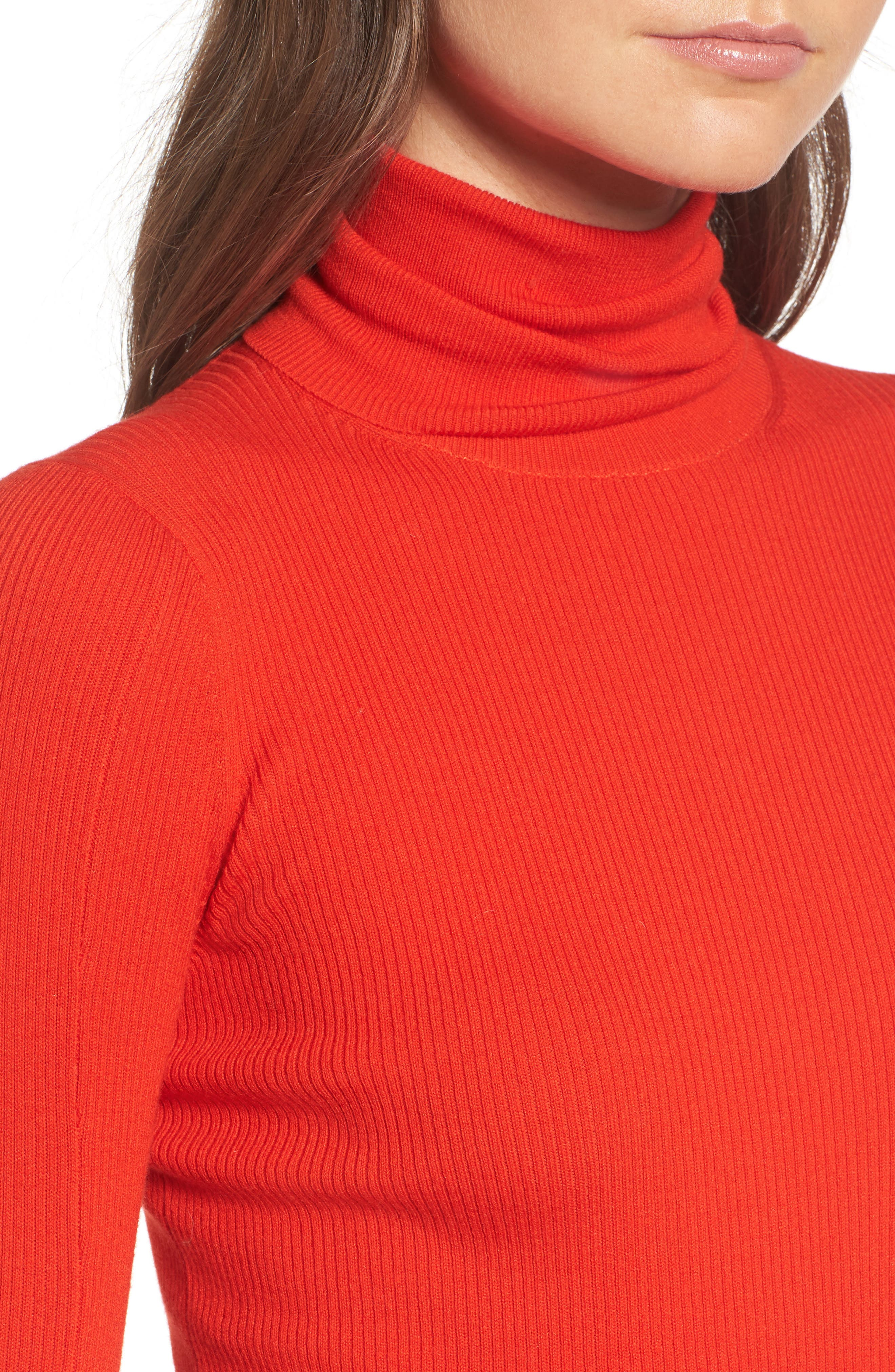x Something Navy Turtleneck Sweater,                             Alternate thumbnail 7, color,