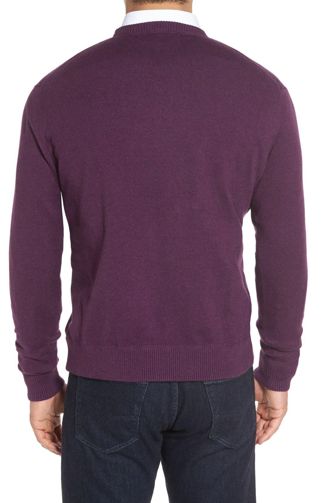 'Jersey Sport' Cotton Blend Crewneck Sweater,                             Alternate thumbnail 14, color,