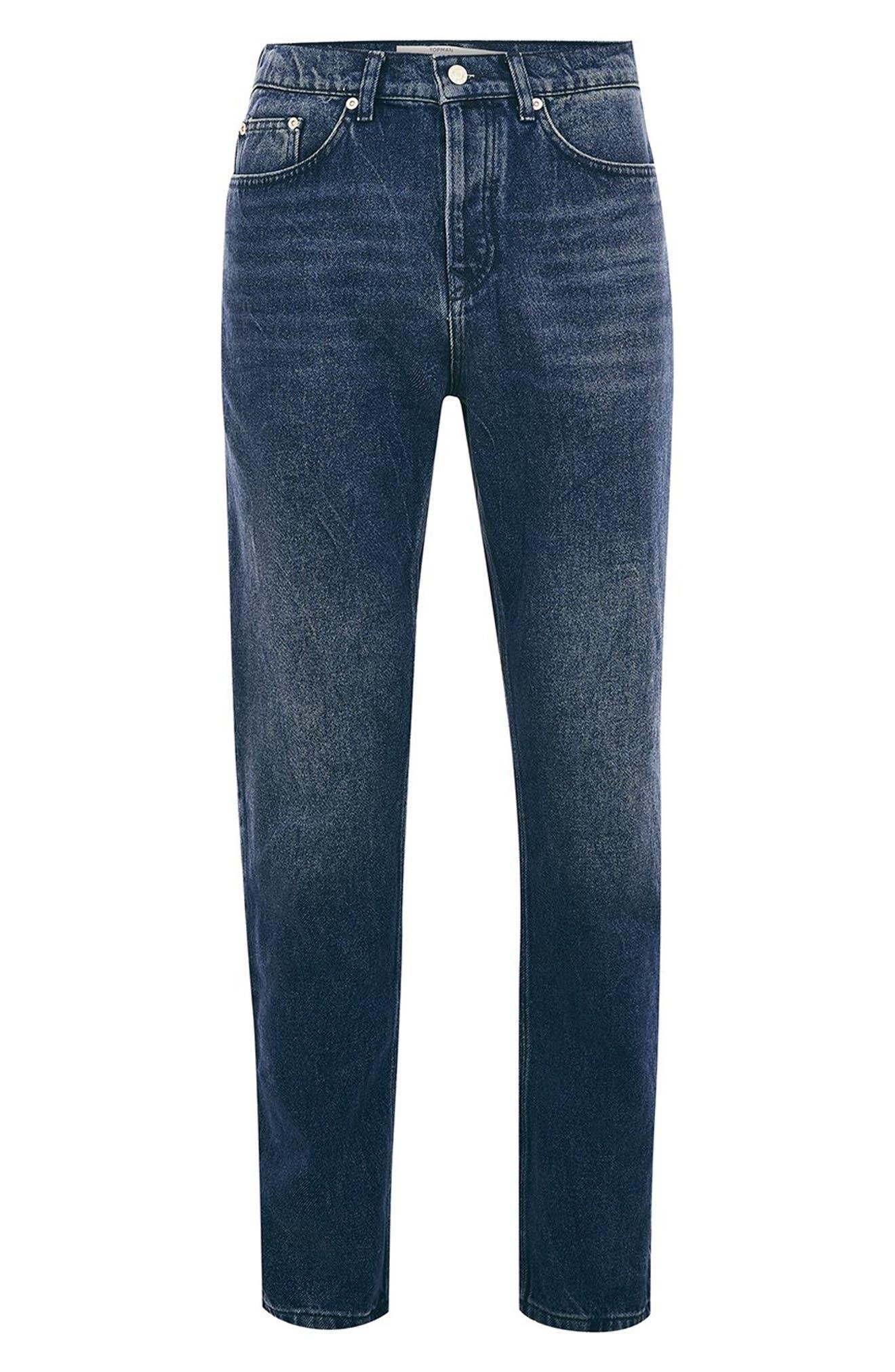 Cupid Rigid Taper Jeans,                             Alternate thumbnail 4, color,                             DARK BLUE