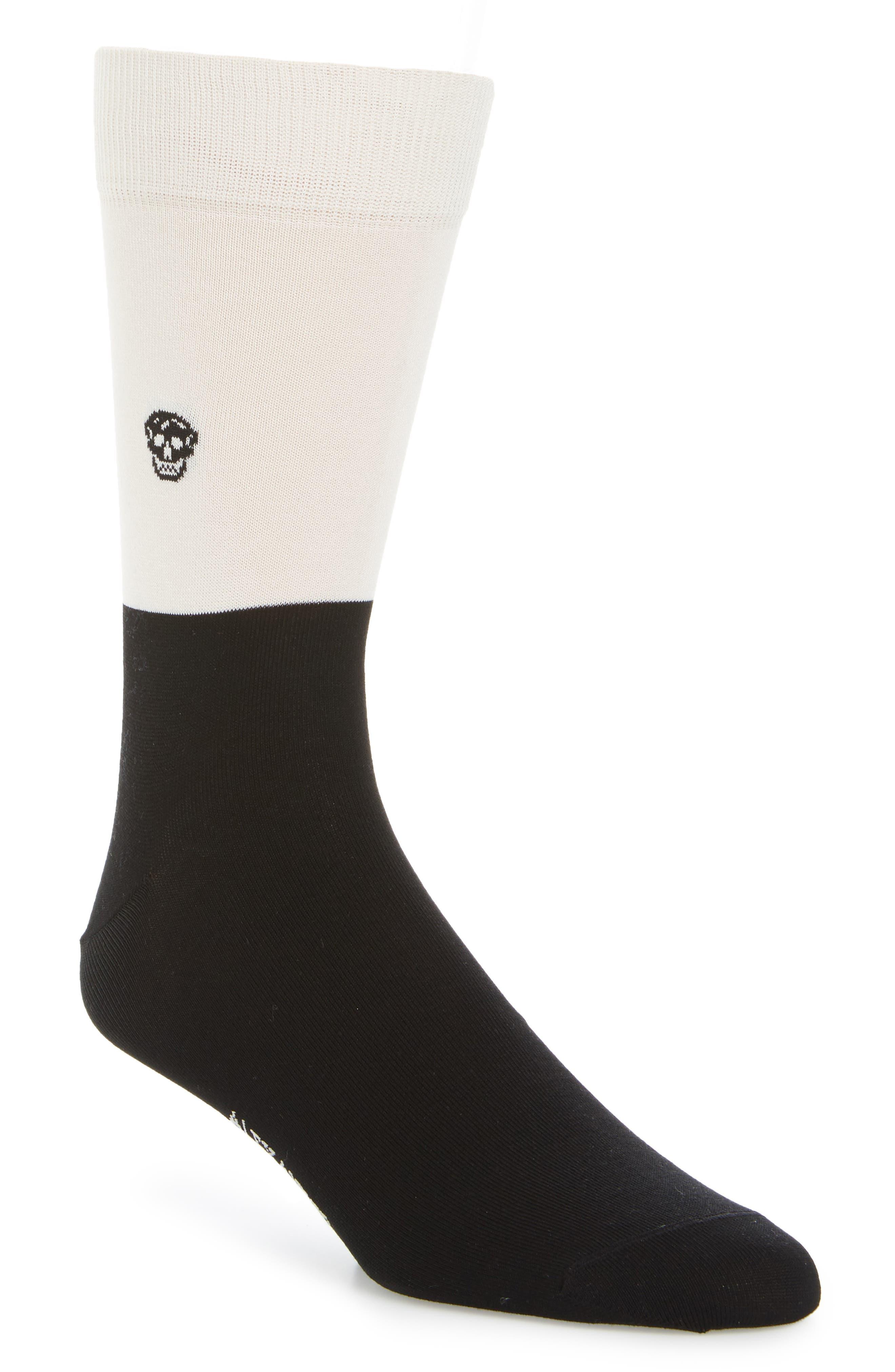 Skull Colorblock Socks,                         Main,                         color, 001