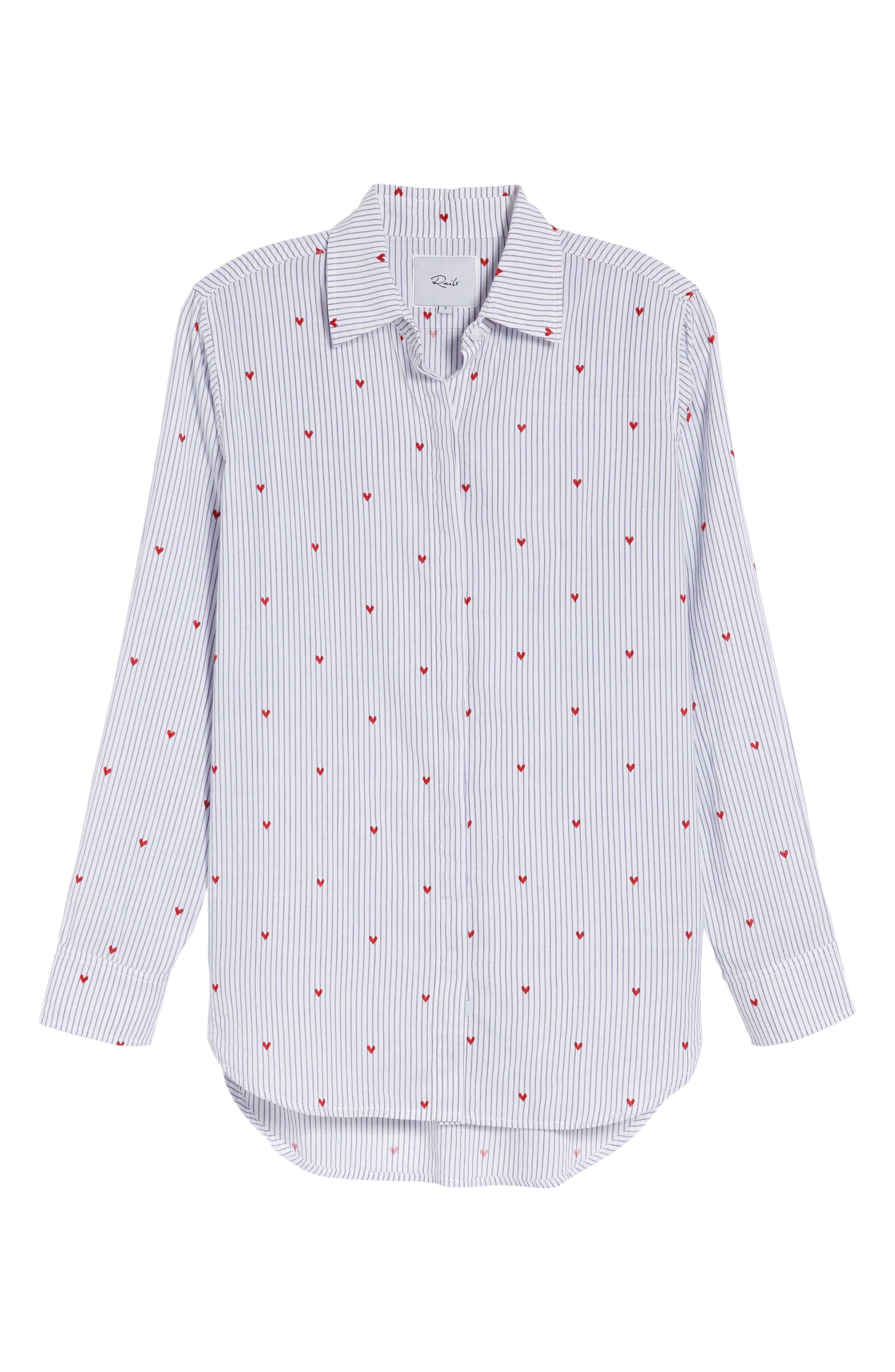 Taylor Heart Stripe Shirt,                             Alternate thumbnail 6, color,                             400