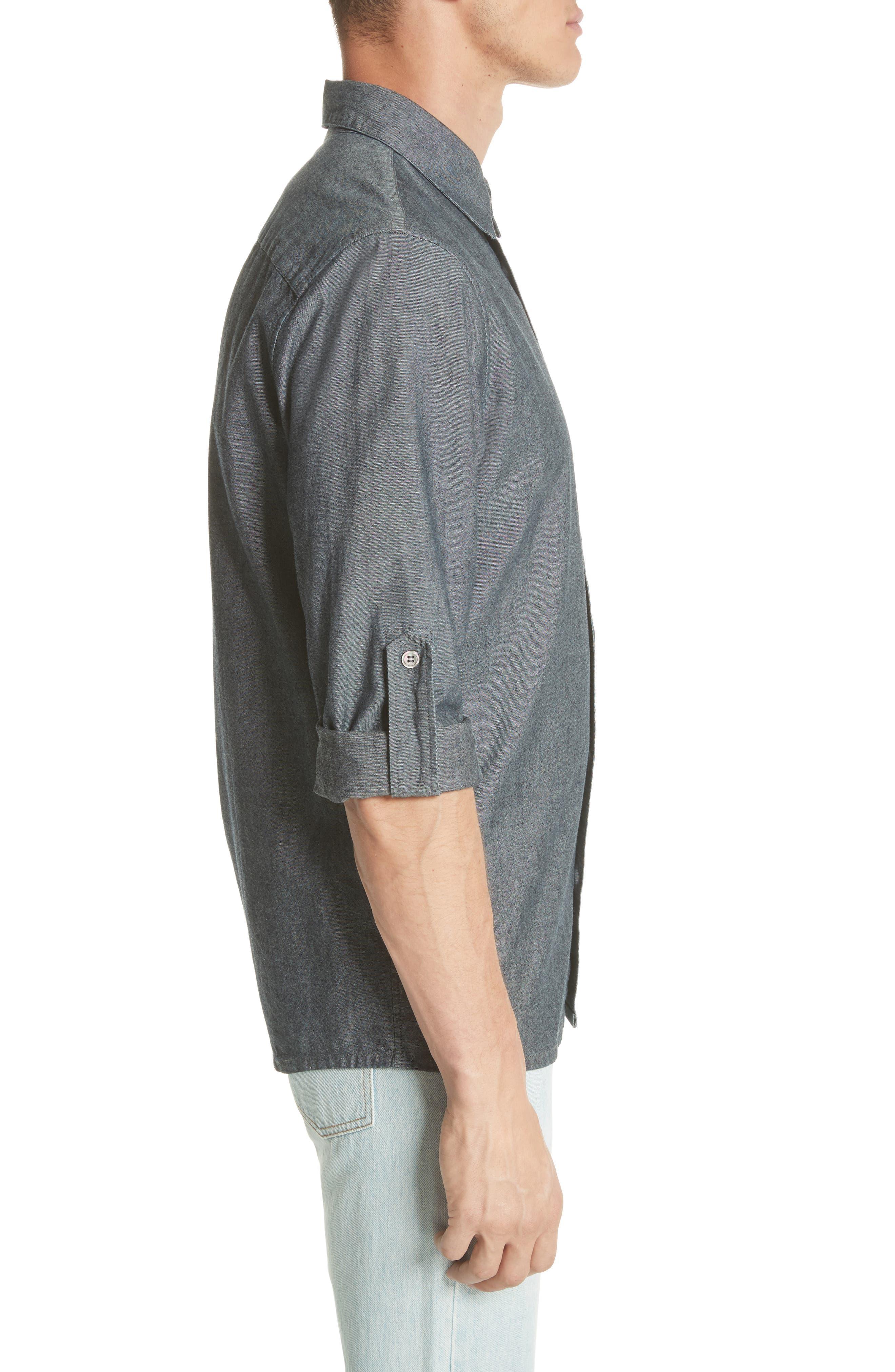 Reno Solid Sport Shirt,                             Alternate thumbnail 3, color,                             INDIGO