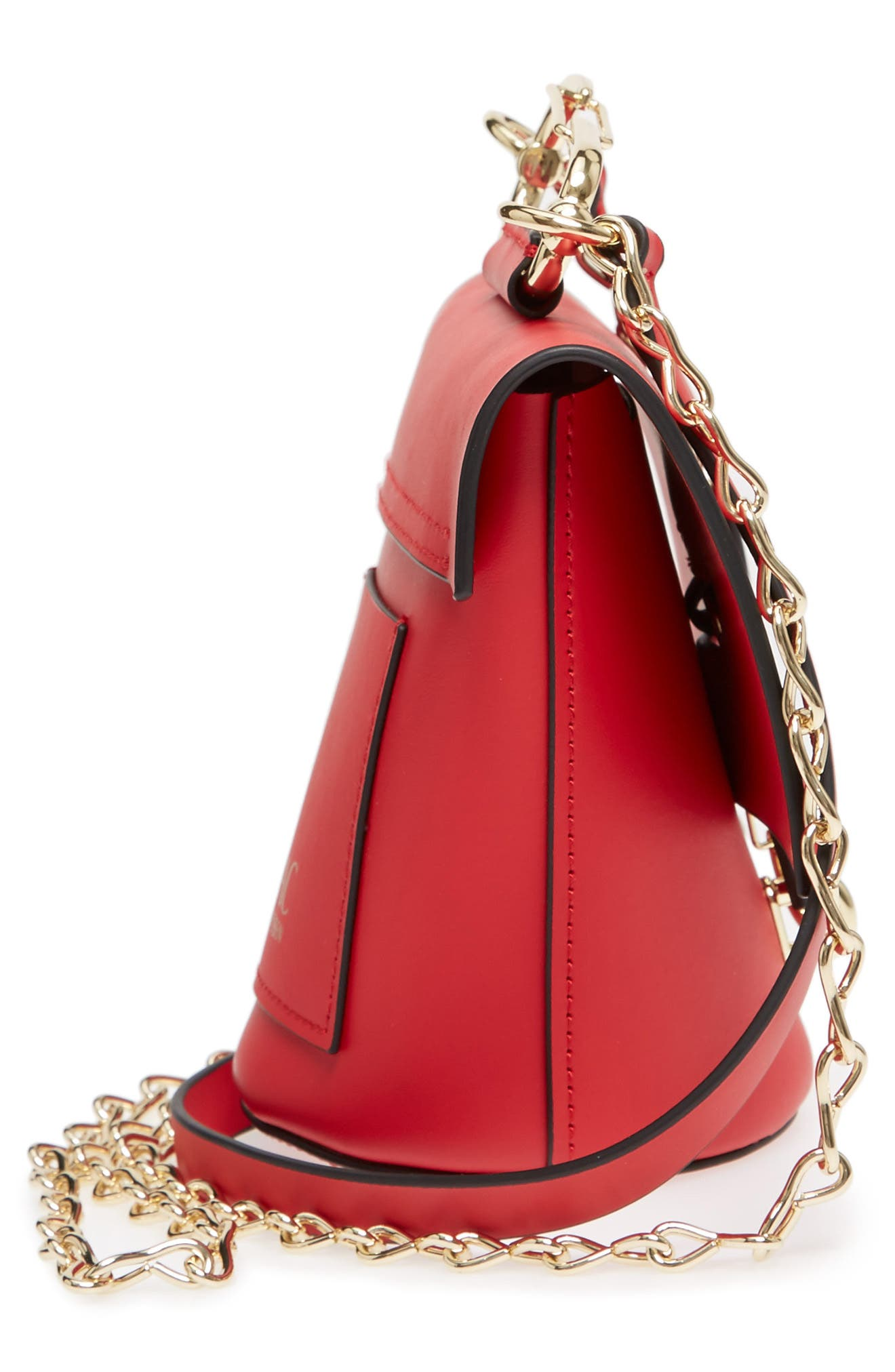 Belay Chain Calfskin Leather Crossbody Bag,                             Alternate thumbnail 17, color,