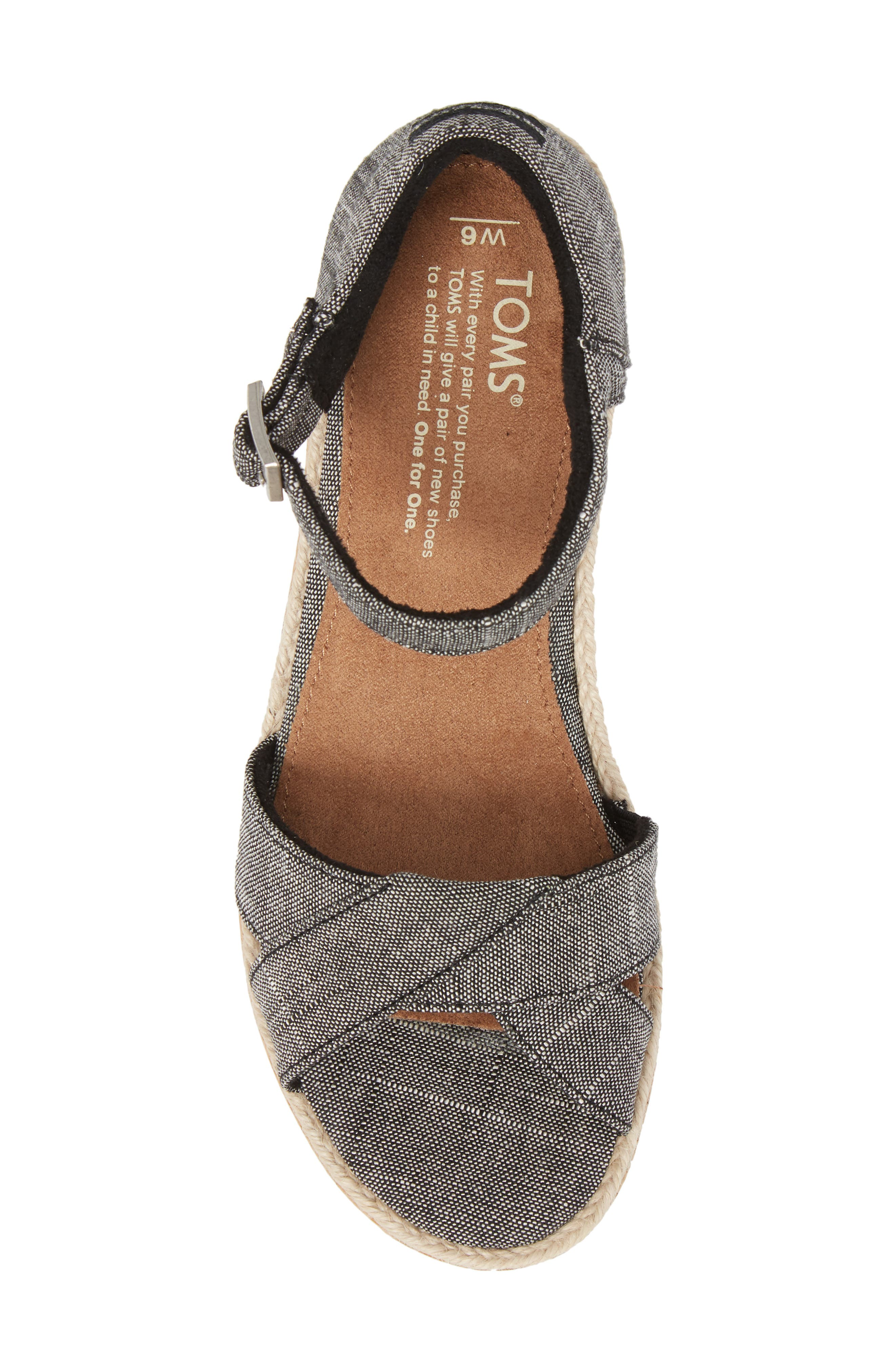 Harper Platform Sandal,                             Alternate thumbnail 5, color,                             001