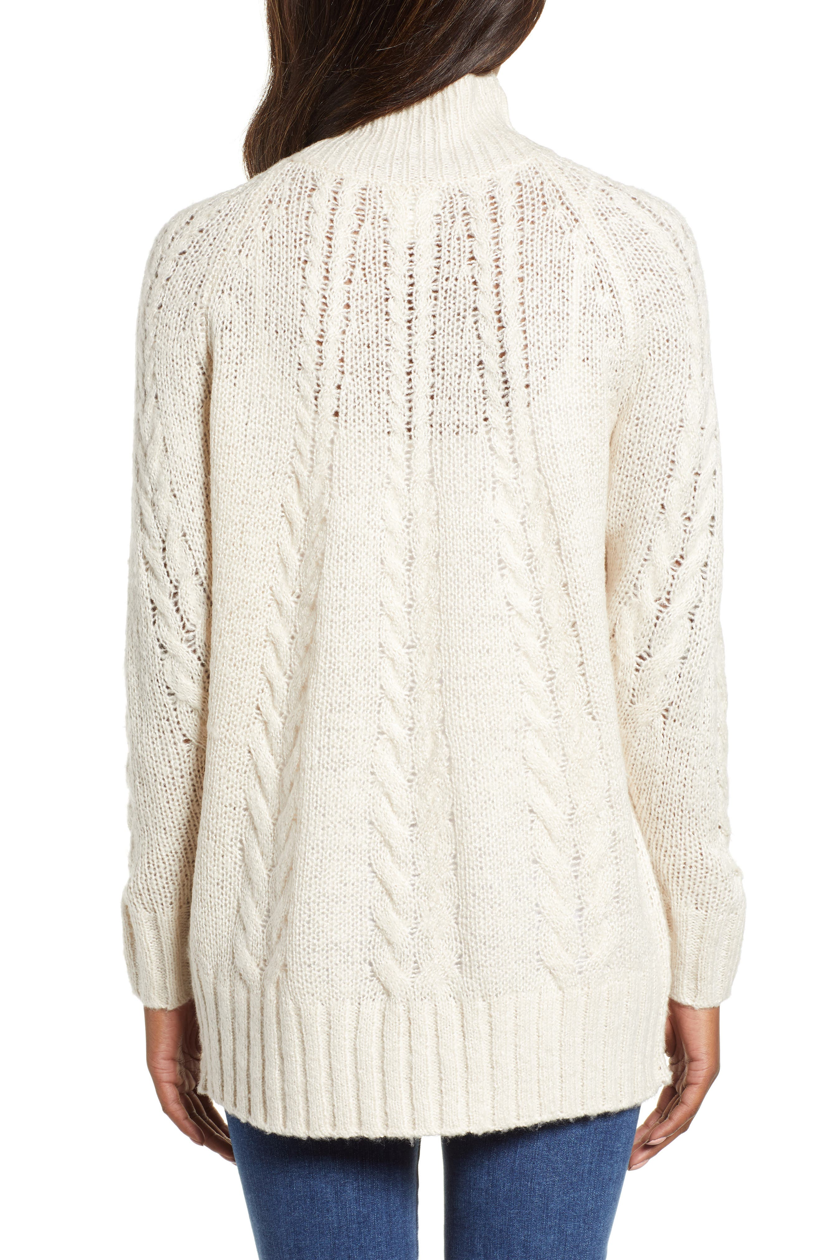 Dolman Sleeve Cable Knit Tunic,                             Alternate thumbnail 2, color,                             270