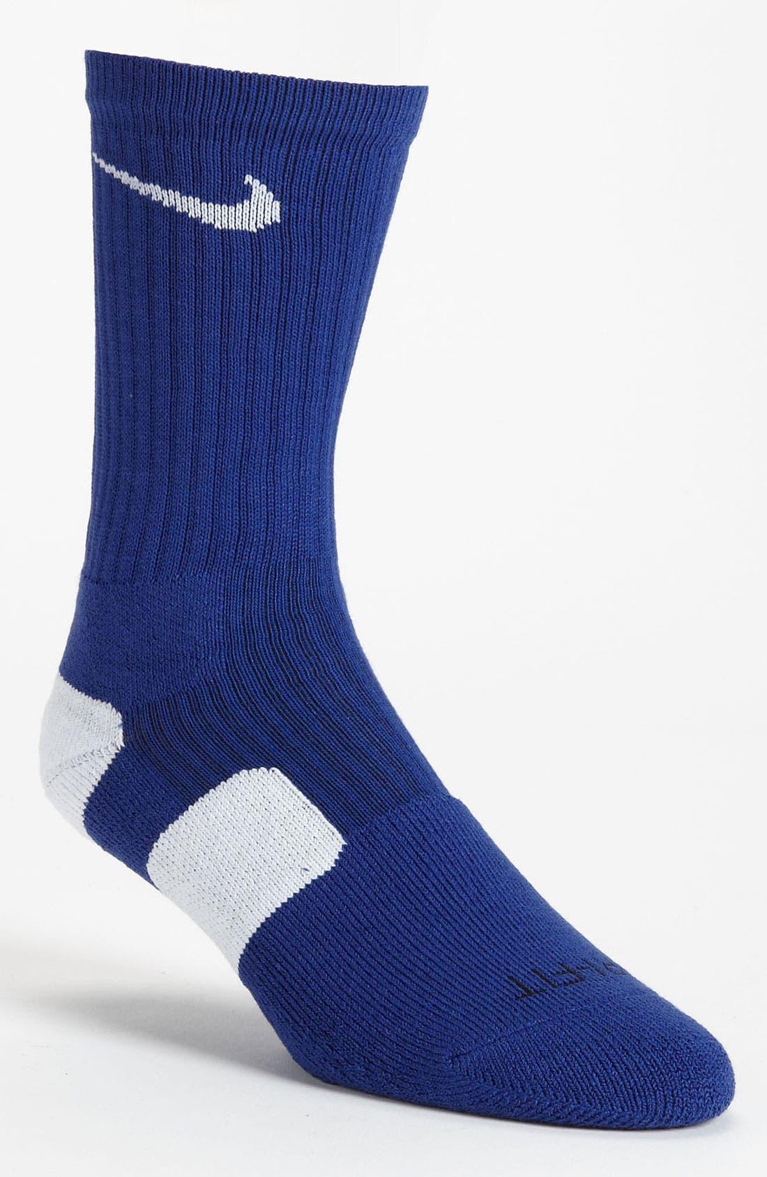 'Elite Basketball' Crew Socks,                             Main thumbnail 26, color,