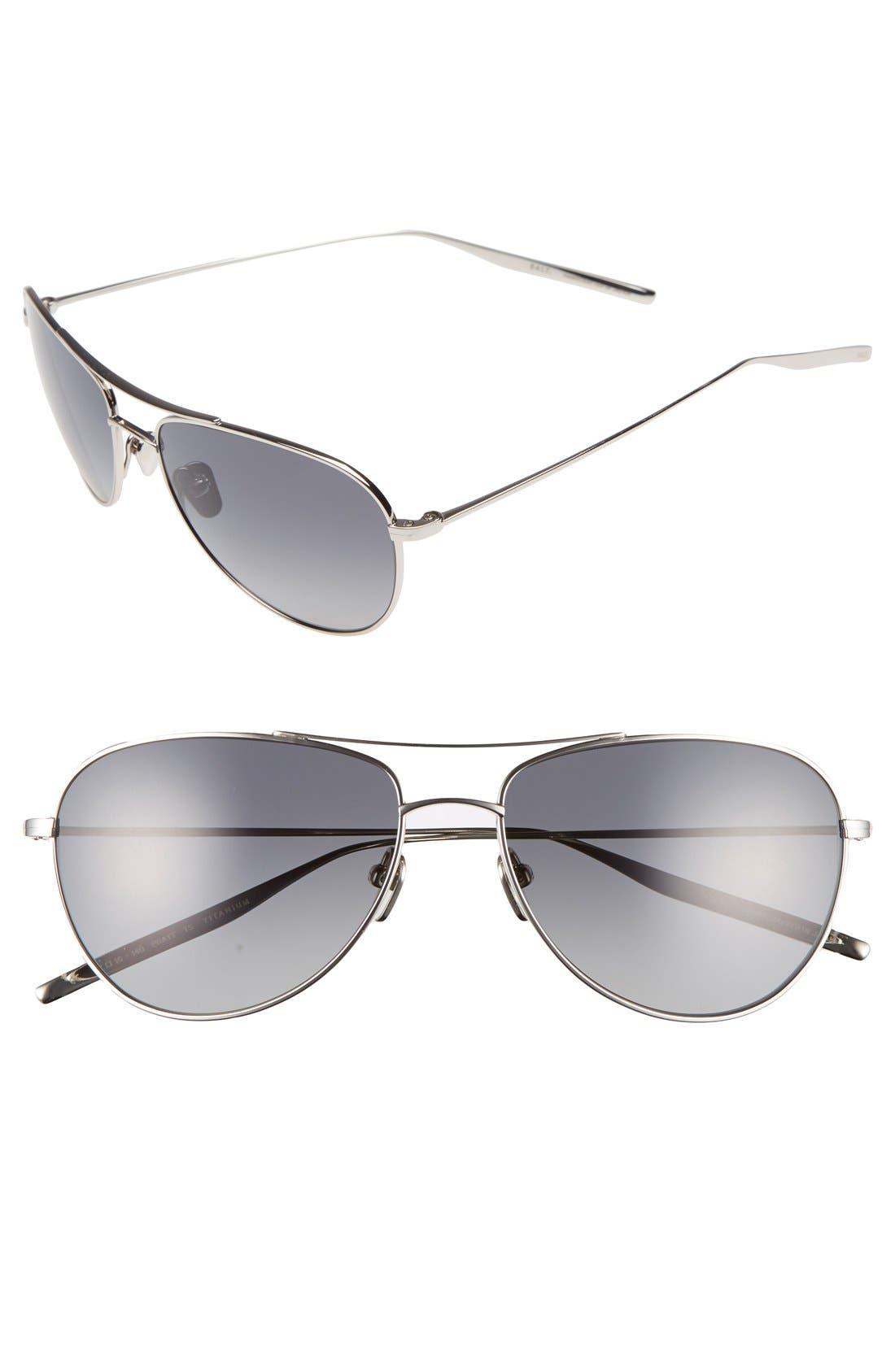 'Pratt' 57mm Aviator Sunglasses,                         Main,                         color, 040