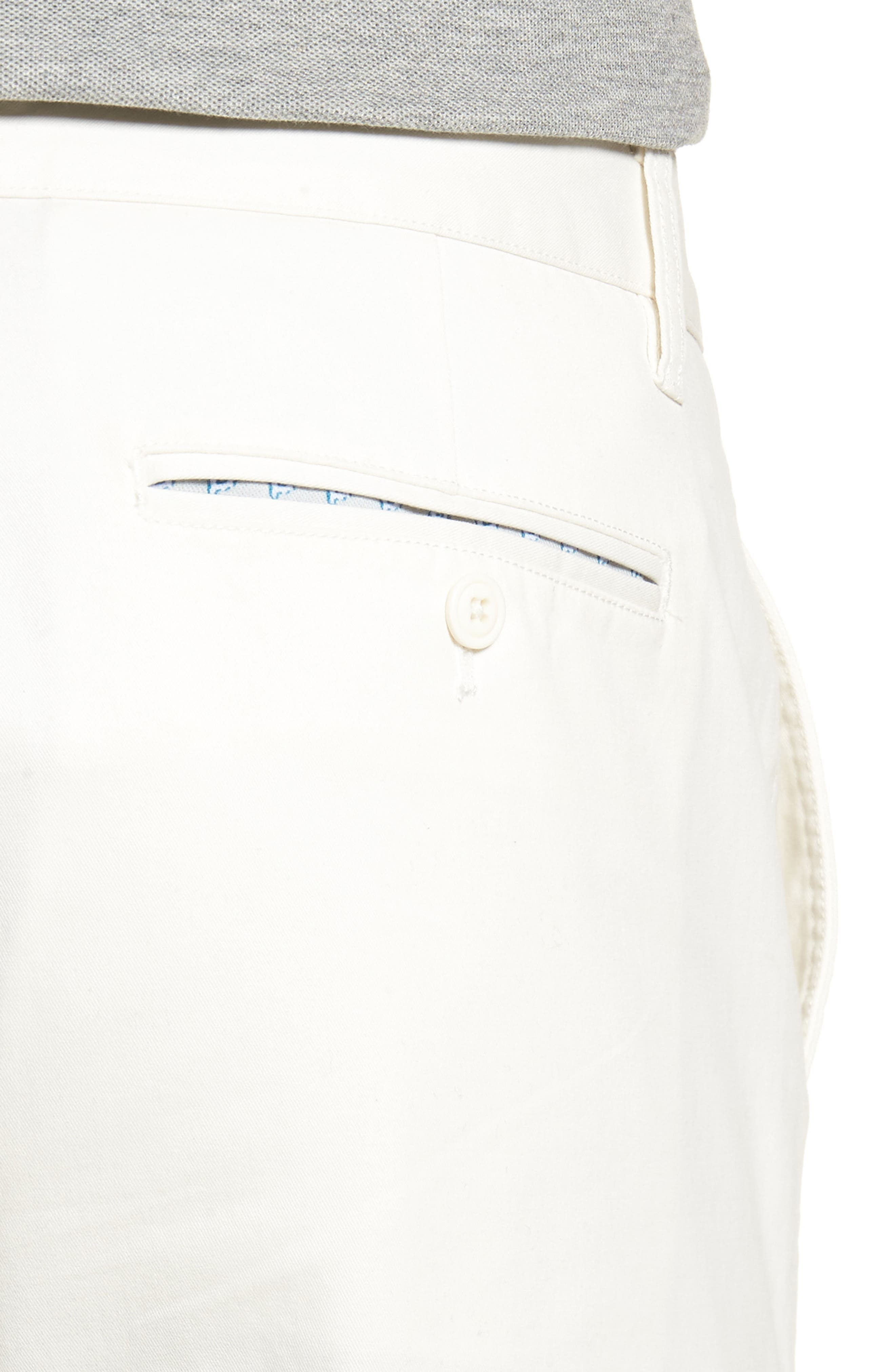 Slim Fit Stretch Washed Chinos,                             Alternate thumbnail 4, color,                             FULL SAIL OFF WHITE