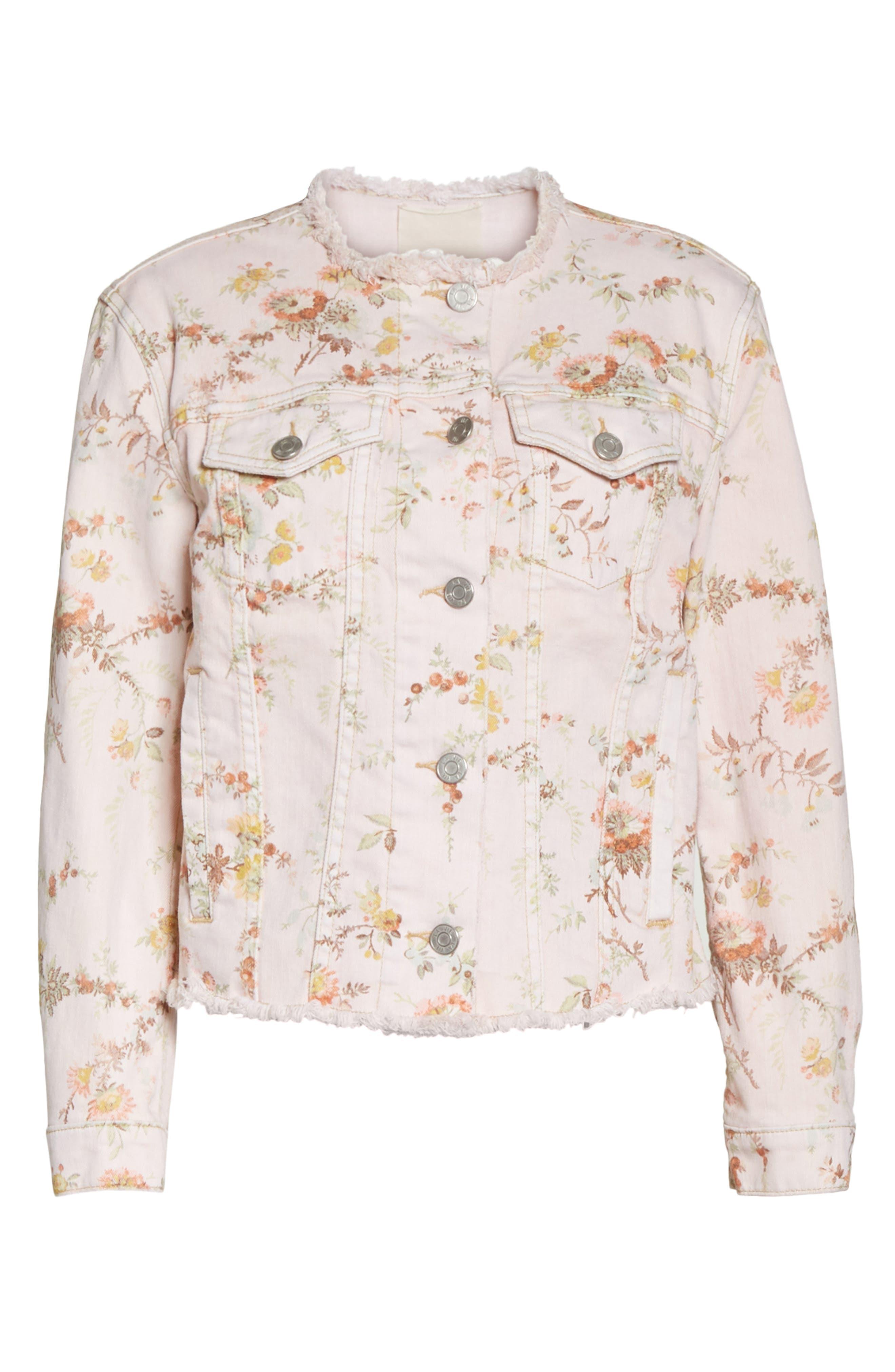 Belle Denim Jacket,                             Alternate thumbnail 5, color,                             903