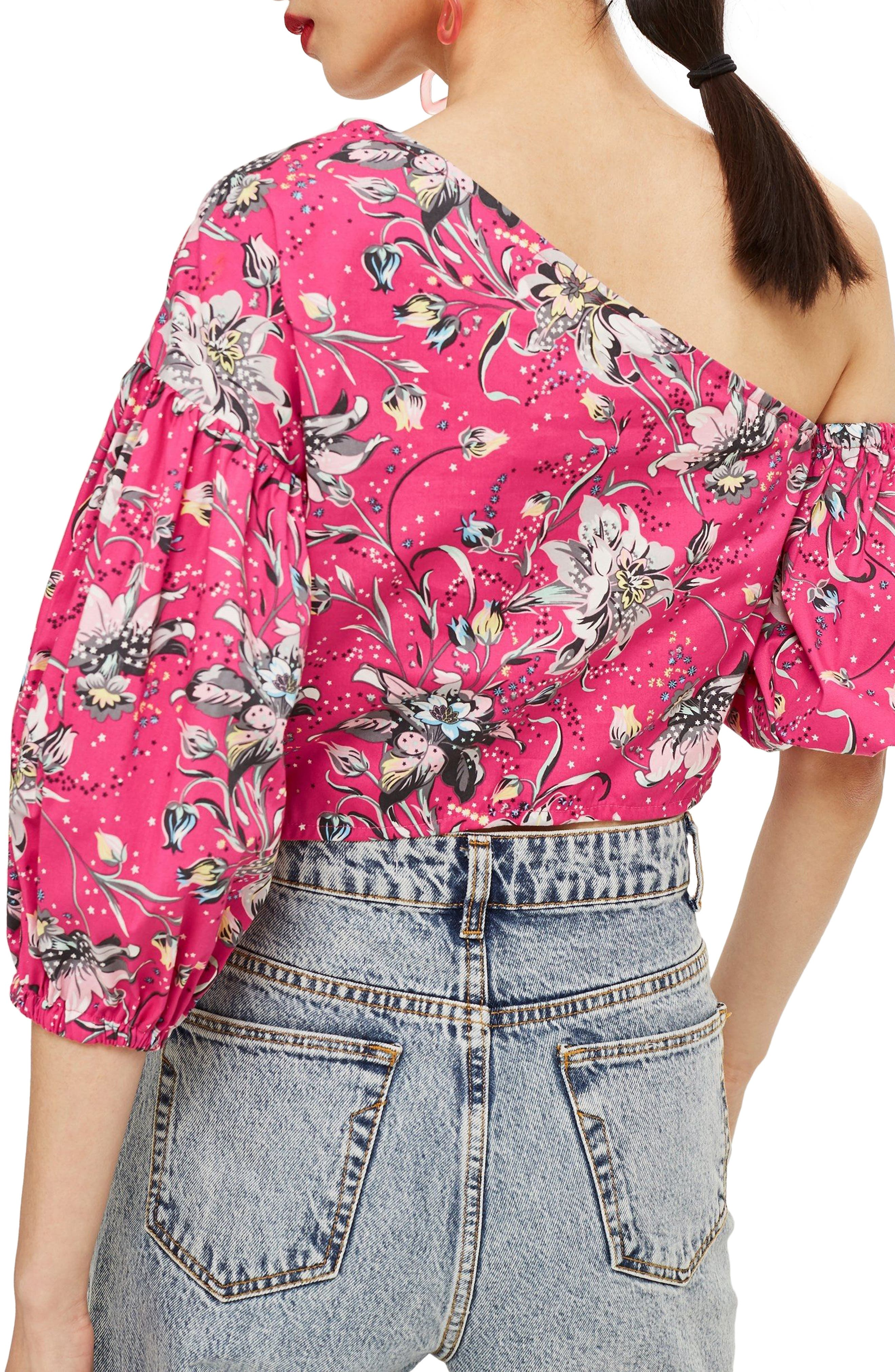 Floral Puff Off the Shoulder Top,                             Alternate thumbnail 2, color,                             651