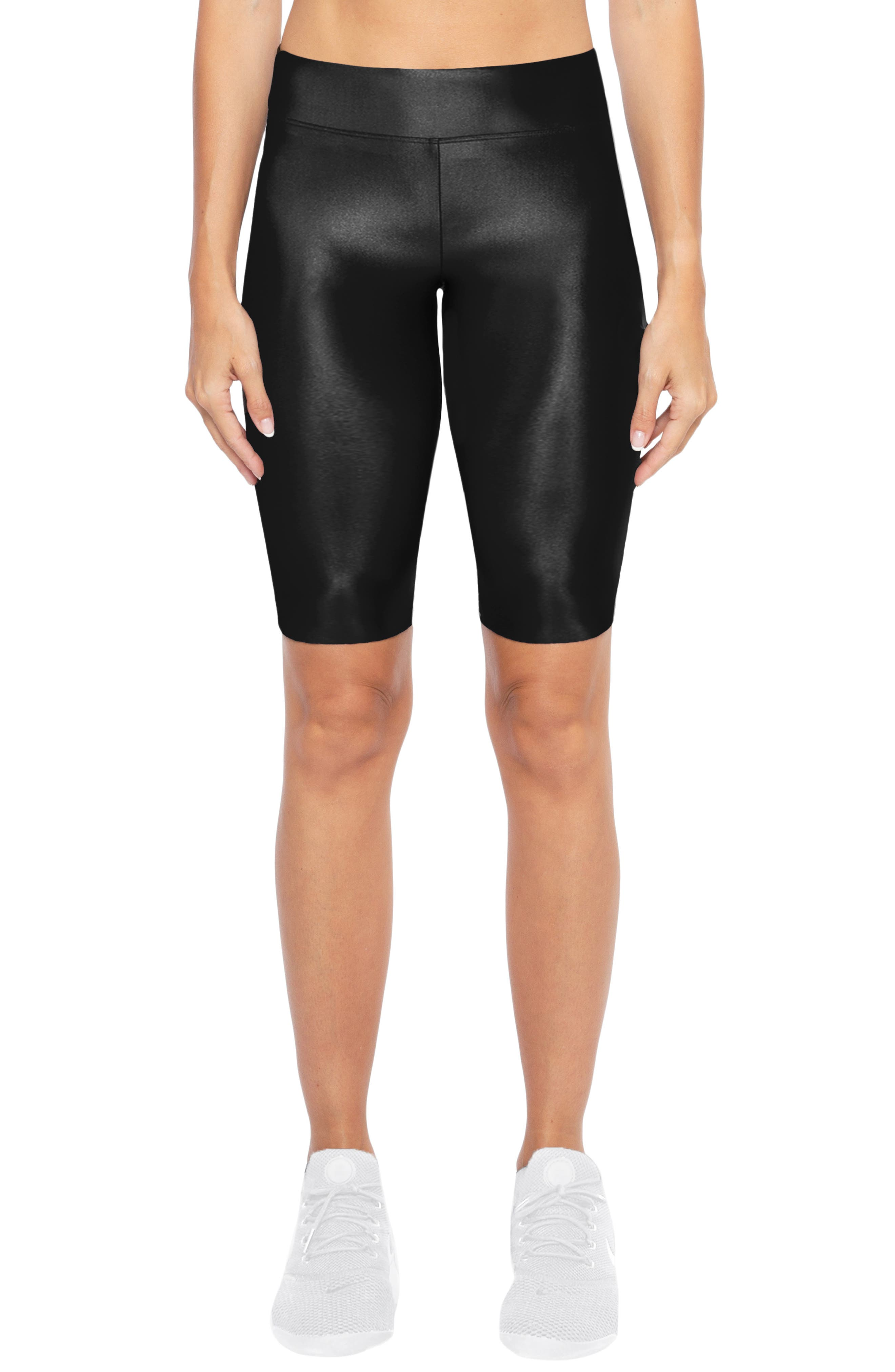 Densonic High Waist Bike Shorts,                         Main,                         color, BLACK