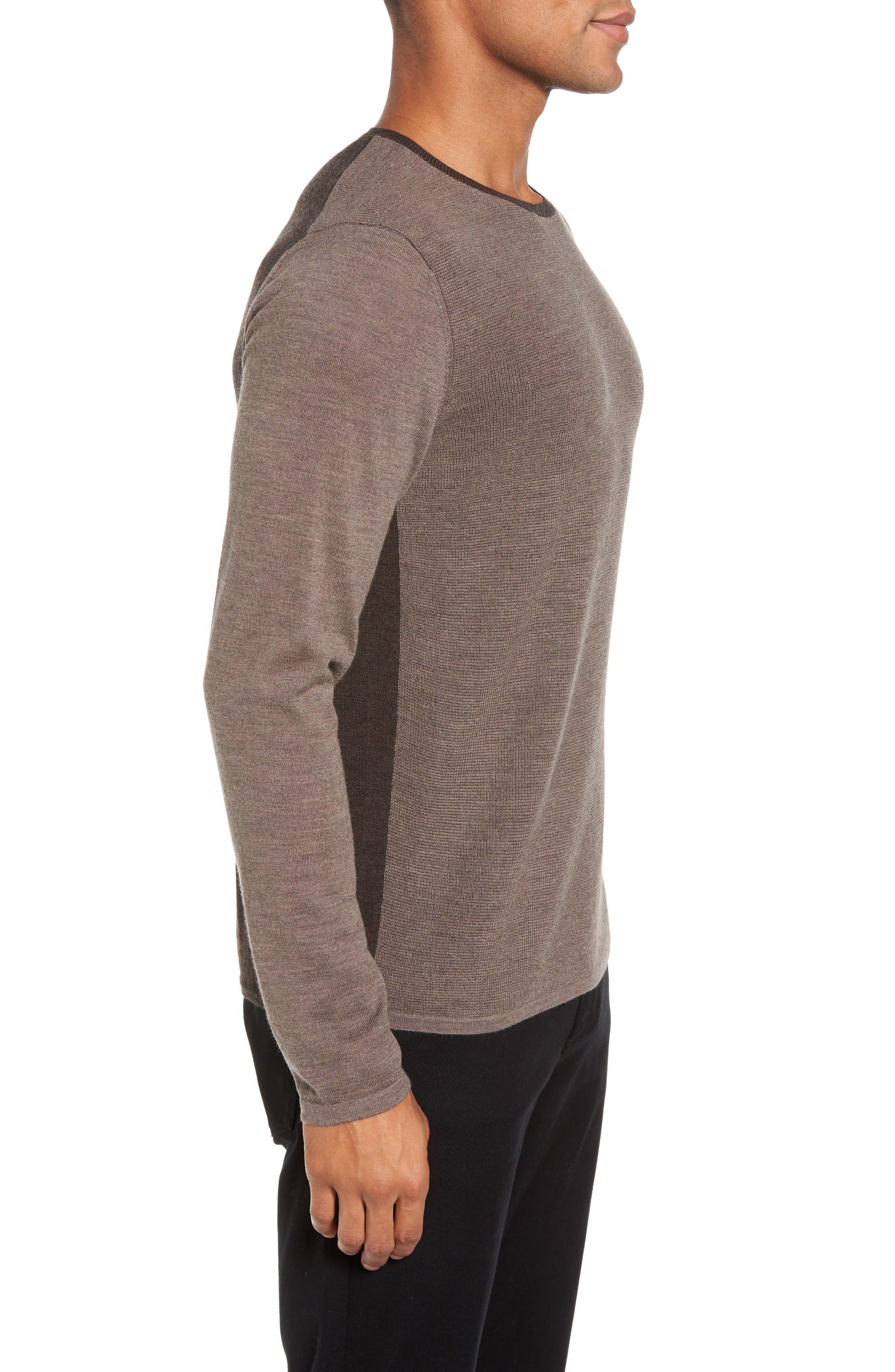 Huxley Merino Sweater,                             Alternate thumbnail 3, color,                             LIGHT COFFEE