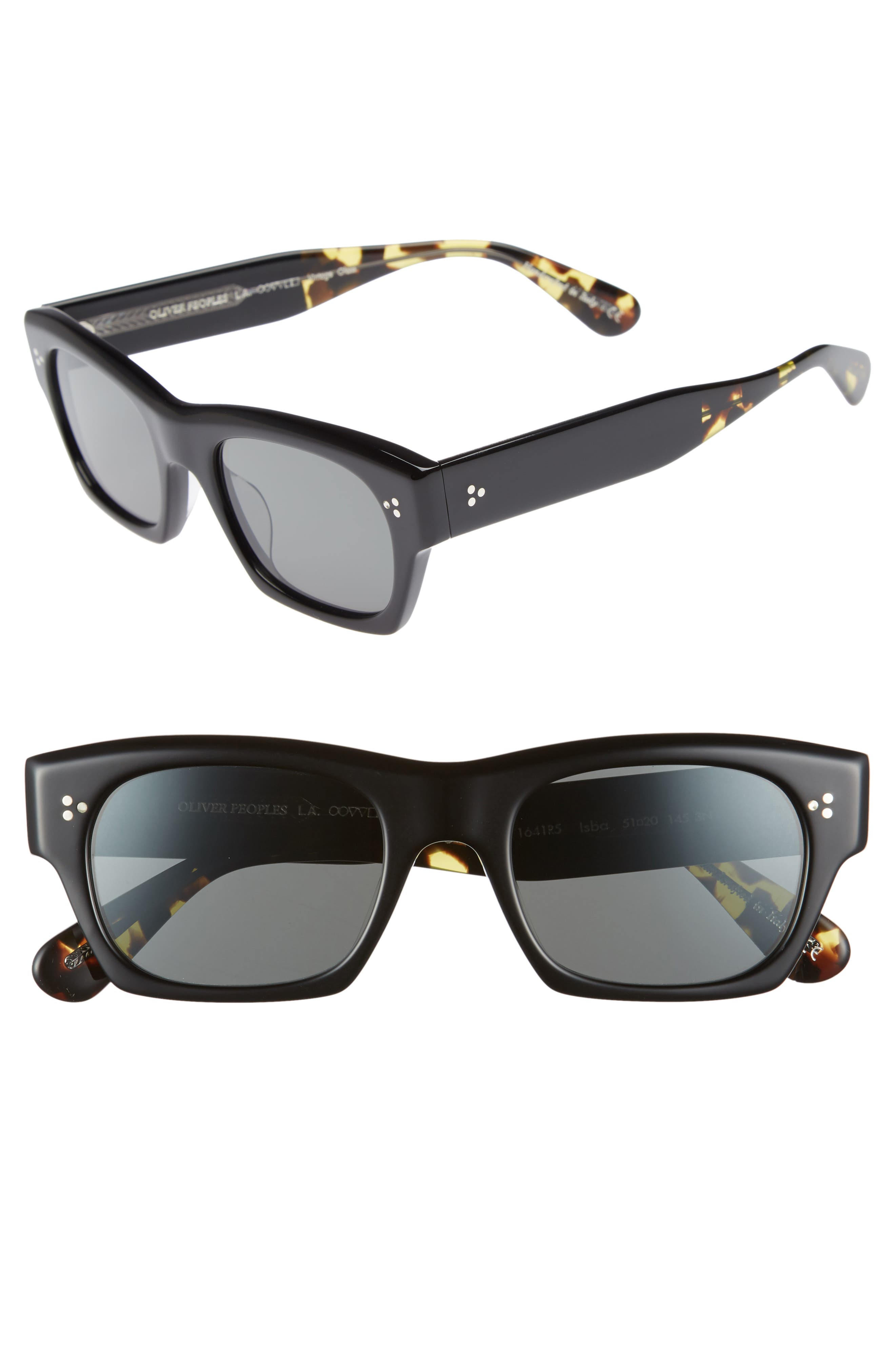 Isba 51mm Sunglasses,                             Main thumbnail 1, color,                             BLACK