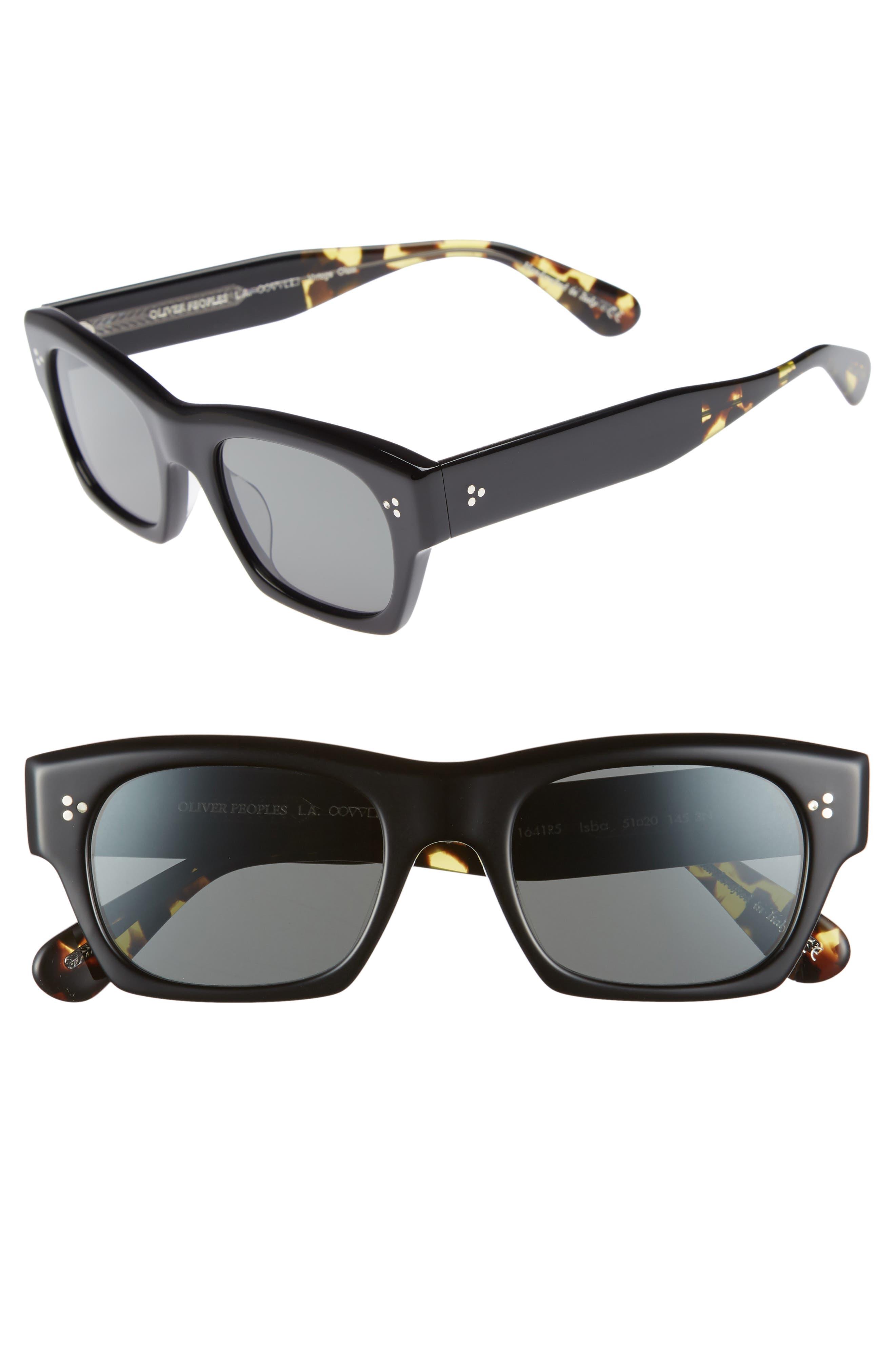 Isba 51mm Sunglasses,                         Main,                         color, BLACK