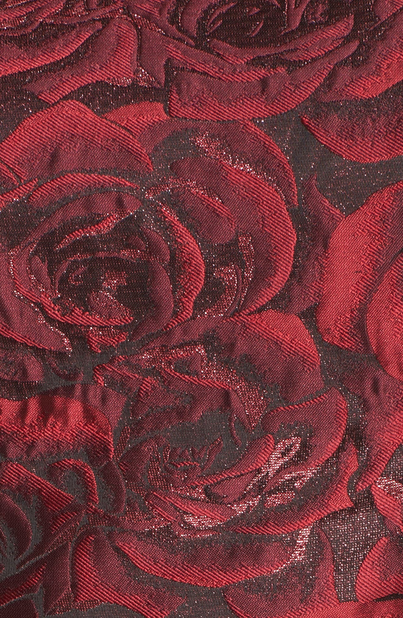 Jacquard Fit & Flare Dress,                             Alternate thumbnail 5, color,                             614