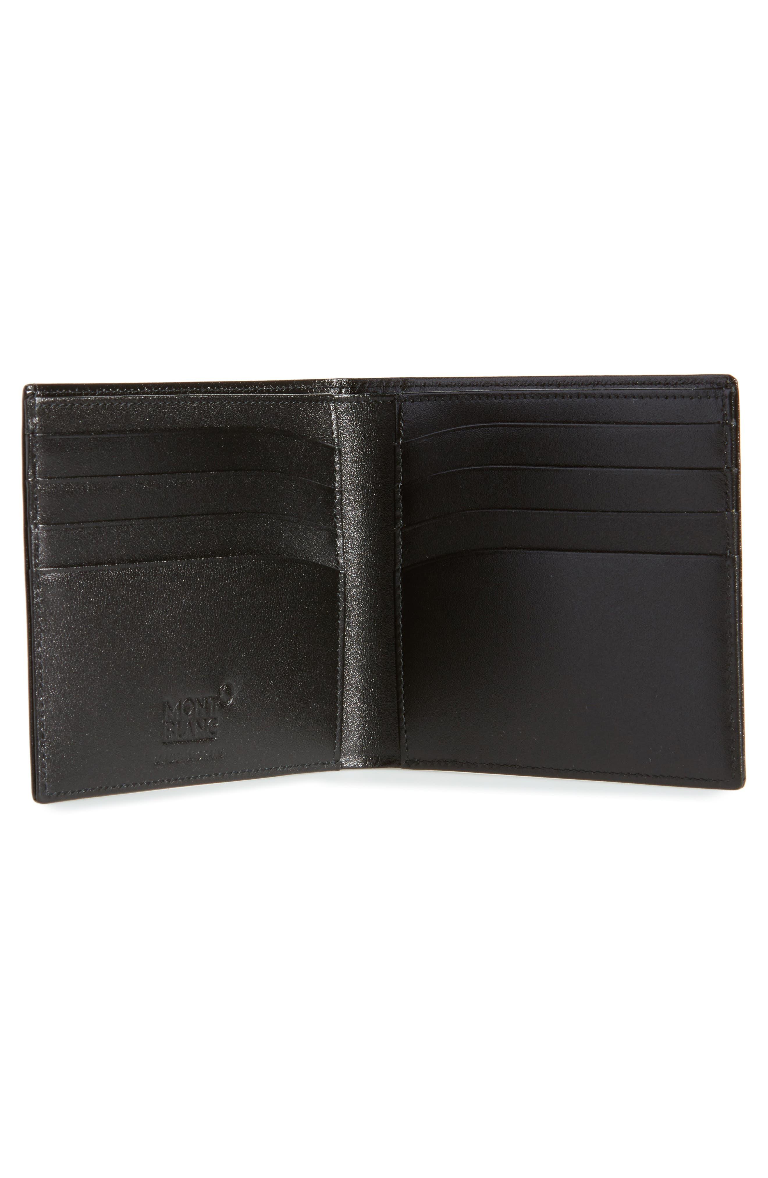 Meisterstück Leather Wallet,                             Alternate thumbnail 2, color,                             BLACK