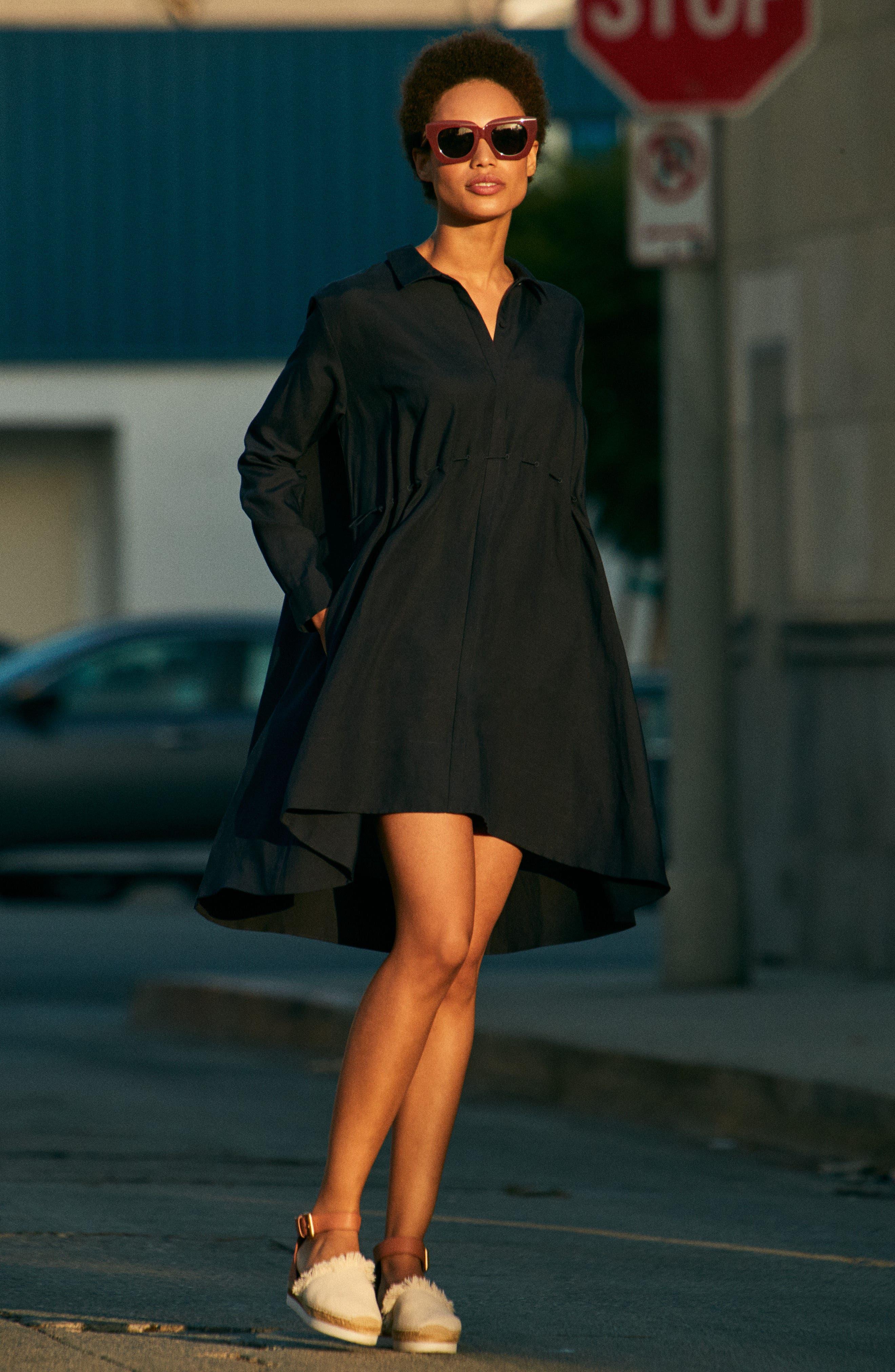 Ellesmere Drape Shirtdress,                             Alternate thumbnail 7, color,