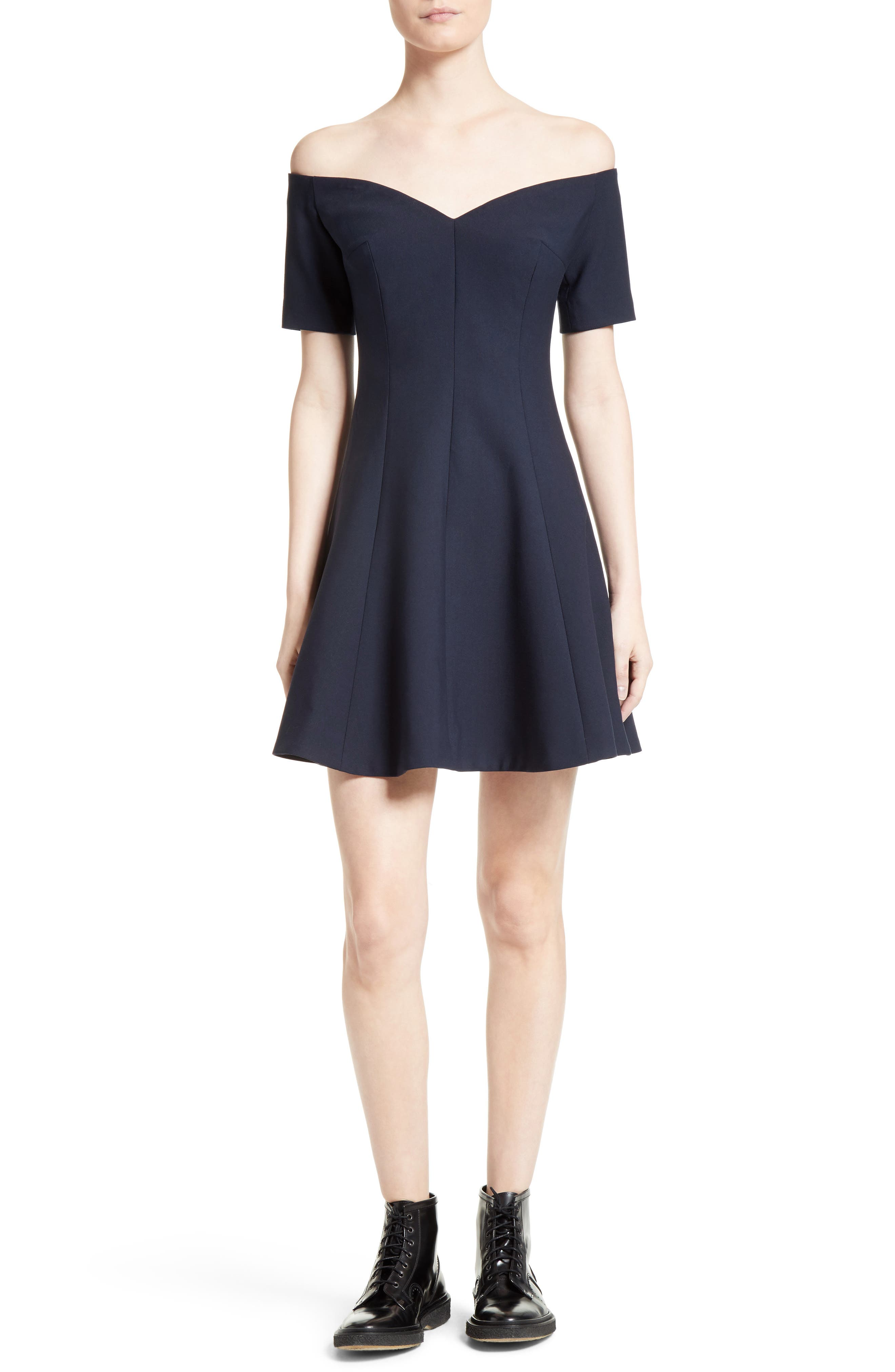 Kenna Fit & Flare Dress,                             Alternate thumbnail 5, color,                             410