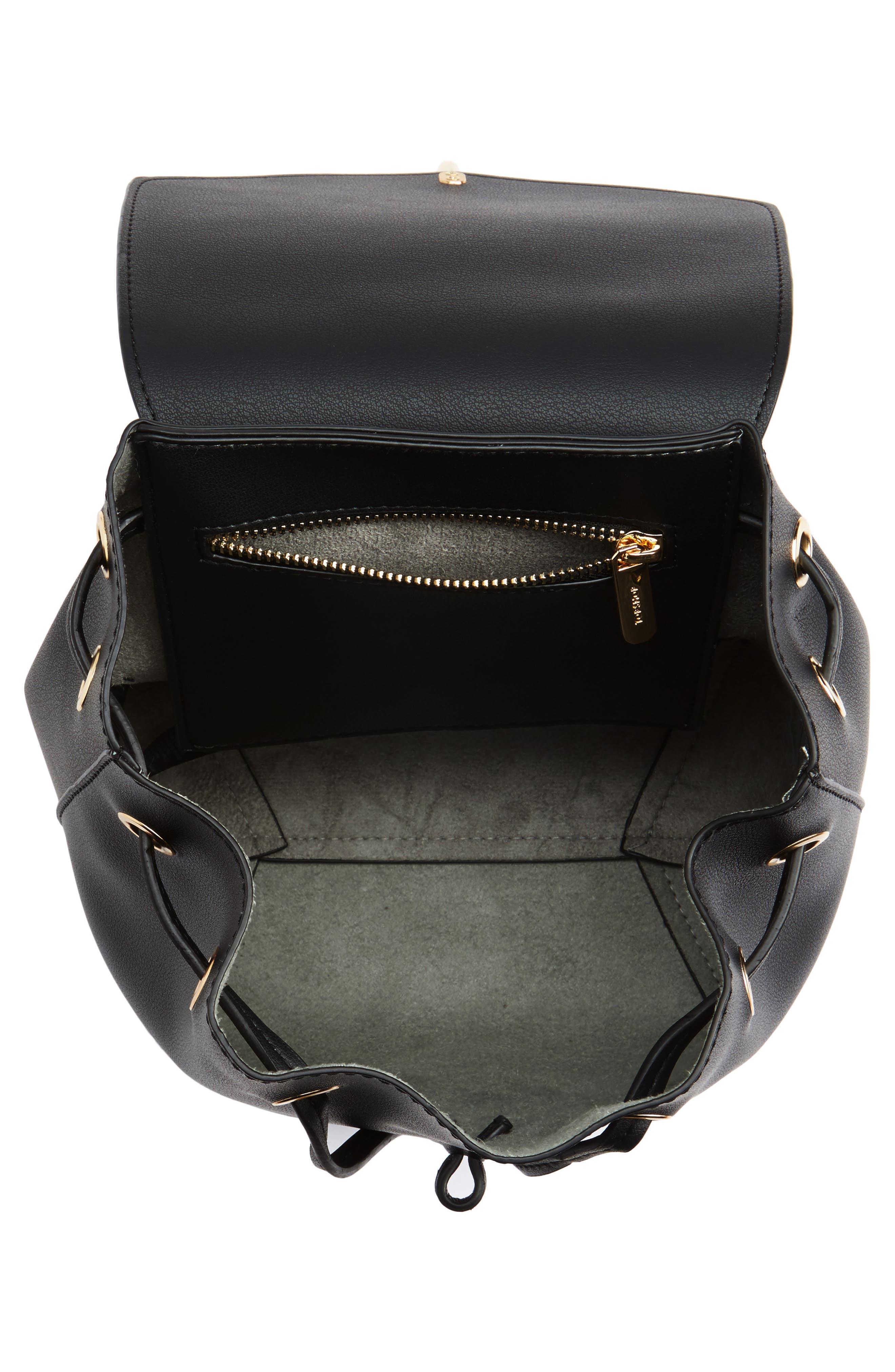 Blake Mini Faux Leather Backpack,                             Alternate thumbnail 7, color,